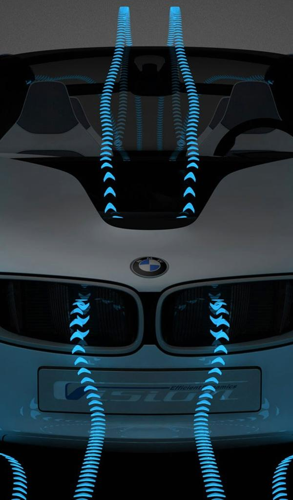 Bmw I8 The Vision Aerodynamic Effect Wallpaper Download 600x1024