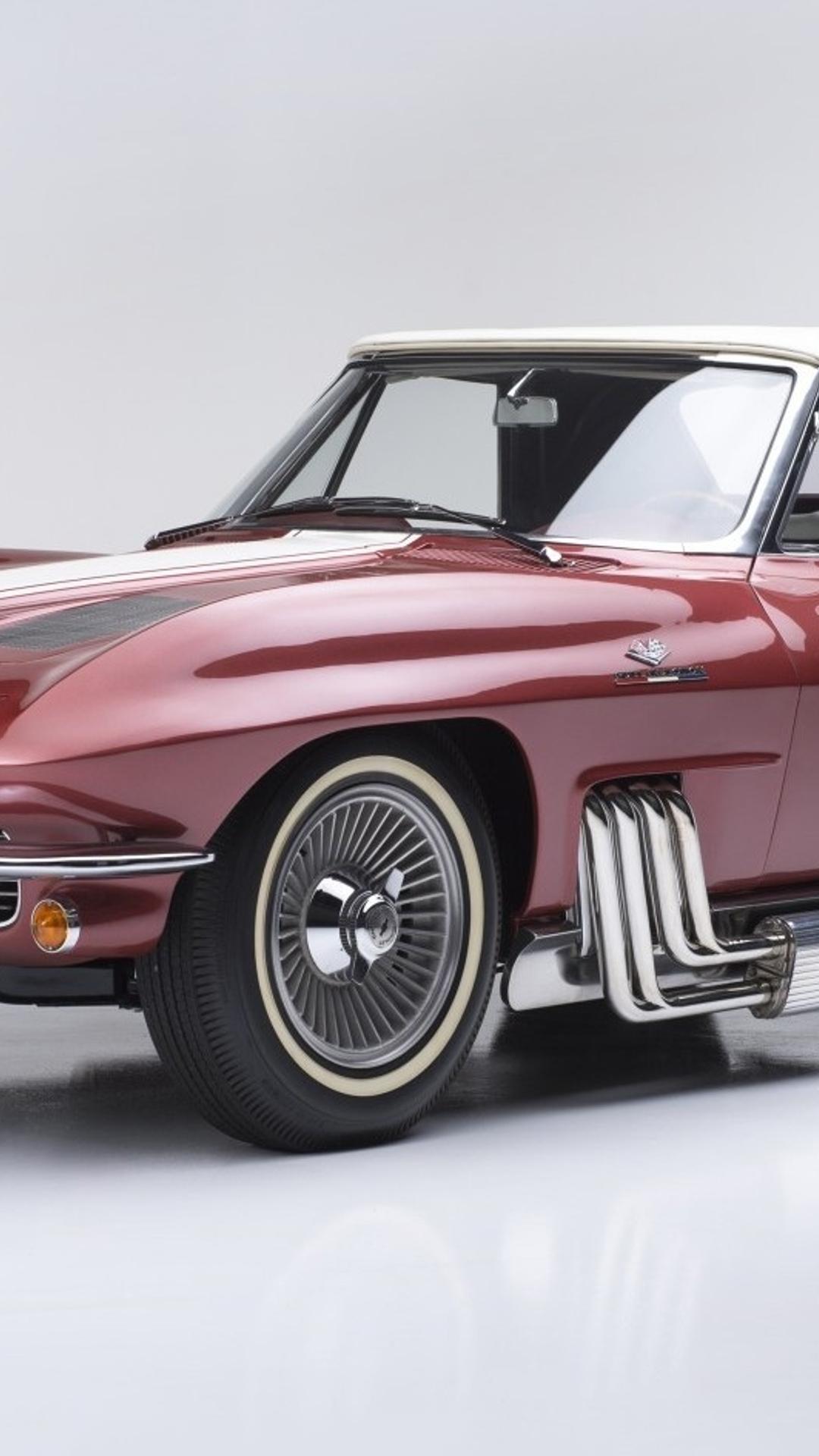 Burgundy Chevrolet Corvette Stingray Wallpaper Download 1080x1920