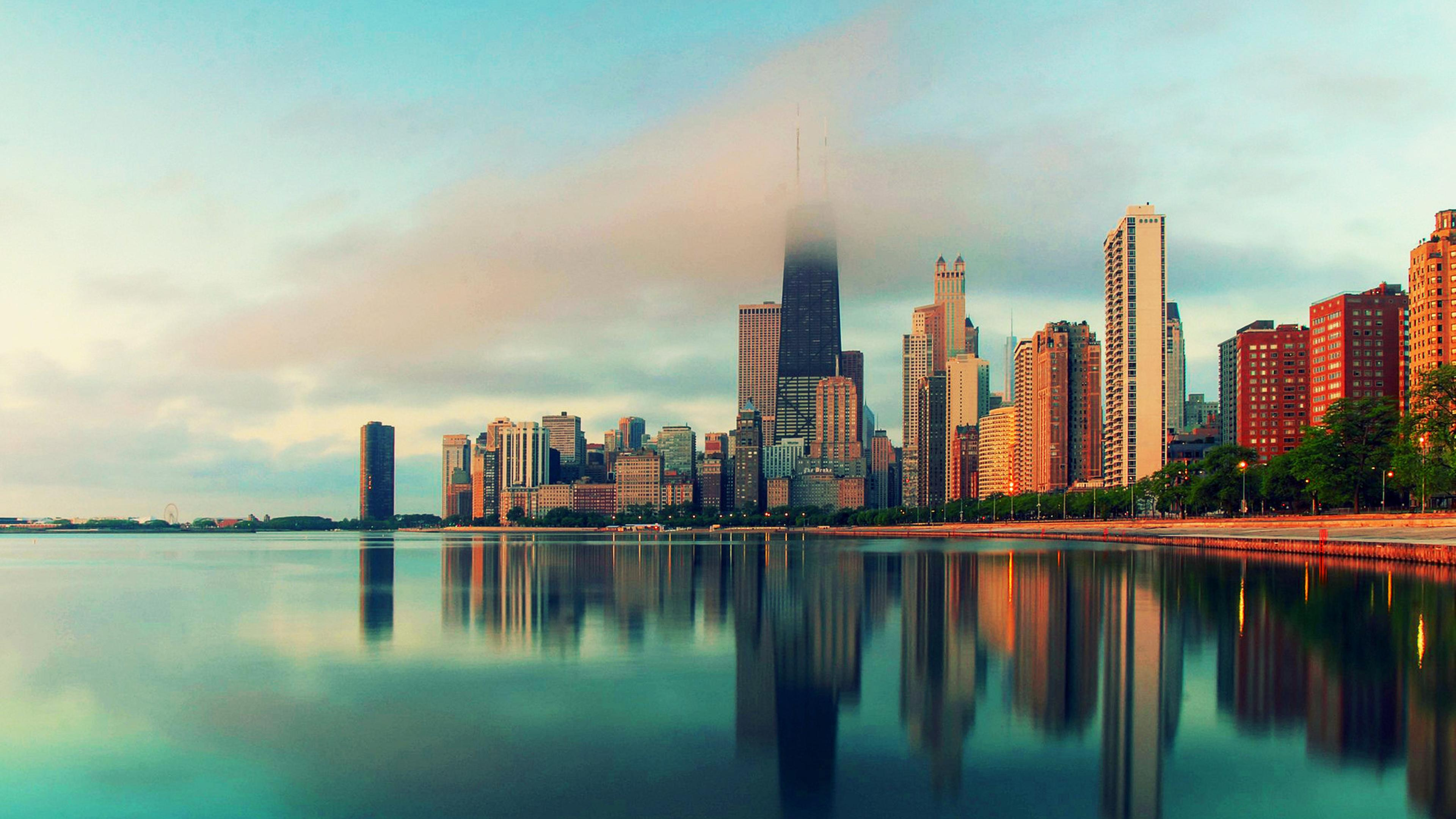 City Of Chicago Hd Wallpaper Download 3840x2160