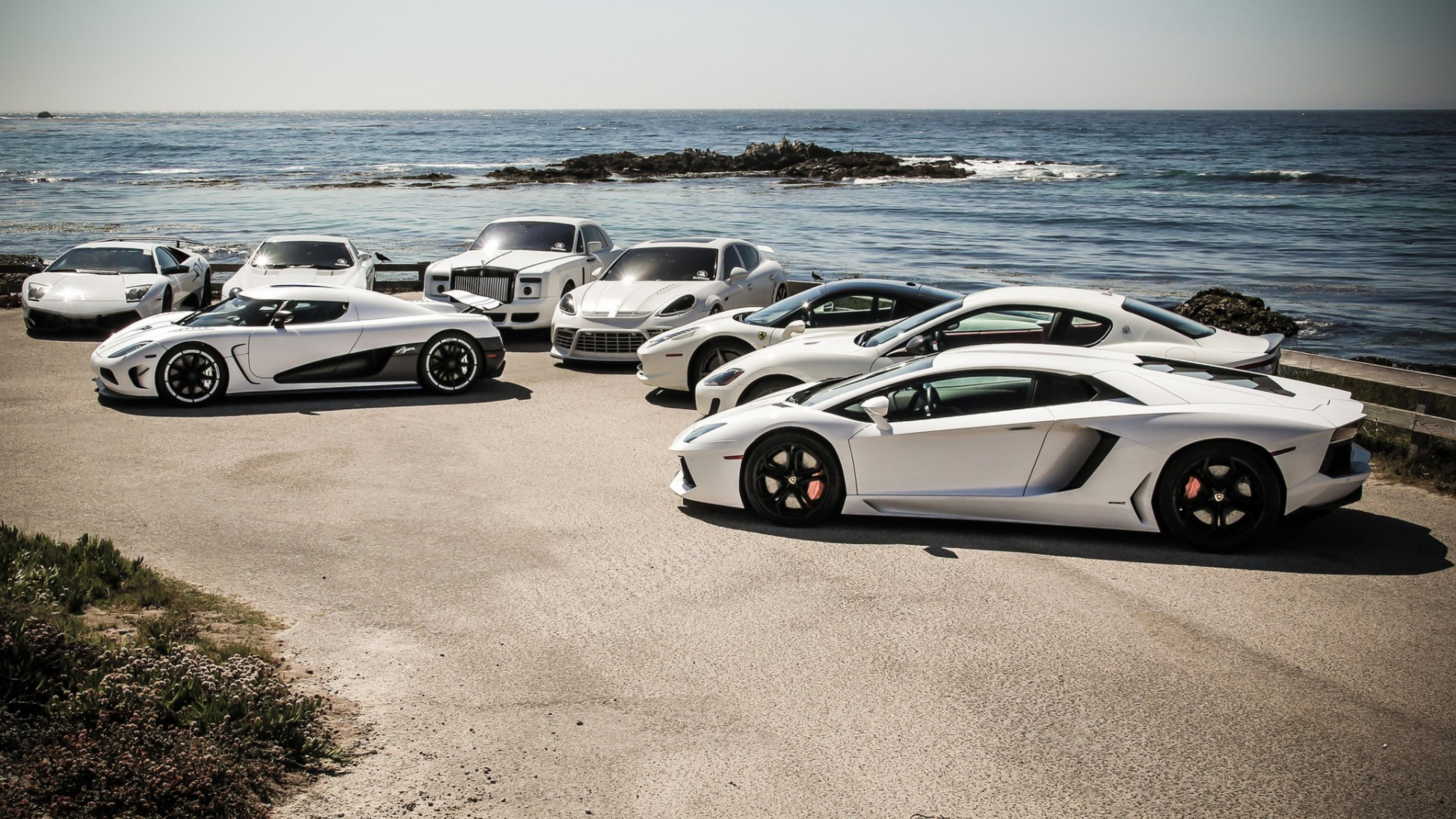 Cars Wallpapers: Collection Of White Supercars Wallpaper Download 3840x2160