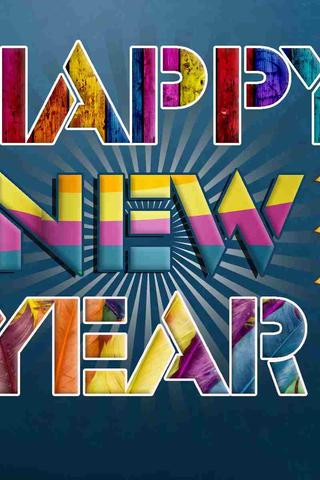 download wallpaper 320x480 digital art colorgul message happy new year 2018