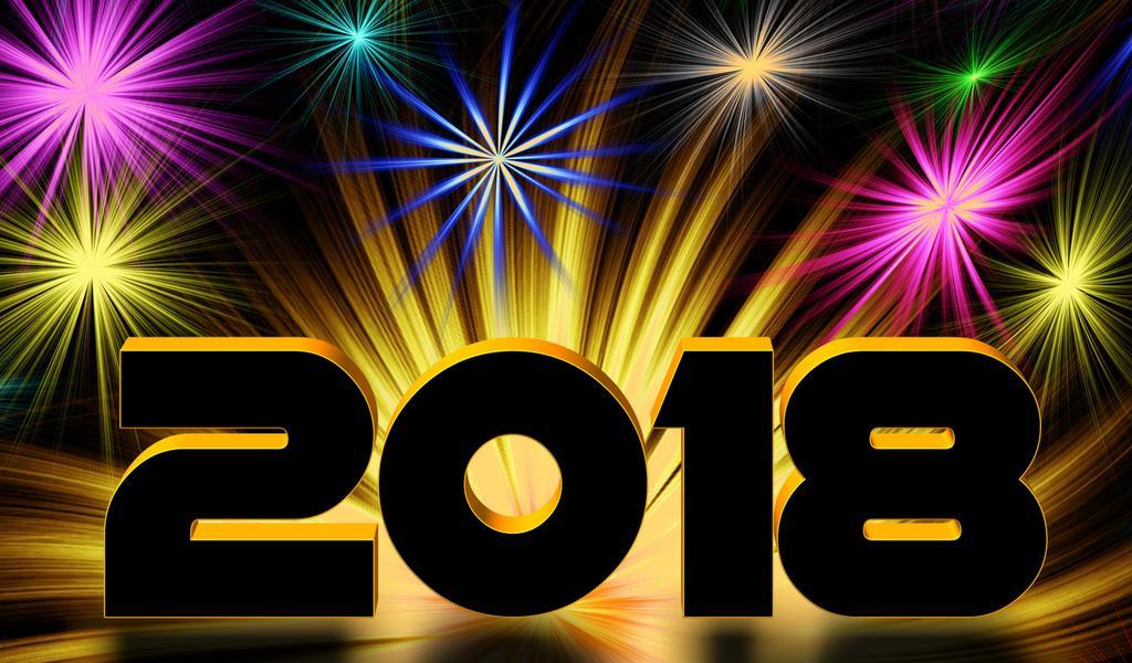 digital fireworks happy new year 2018 wallpaper download 1024x600