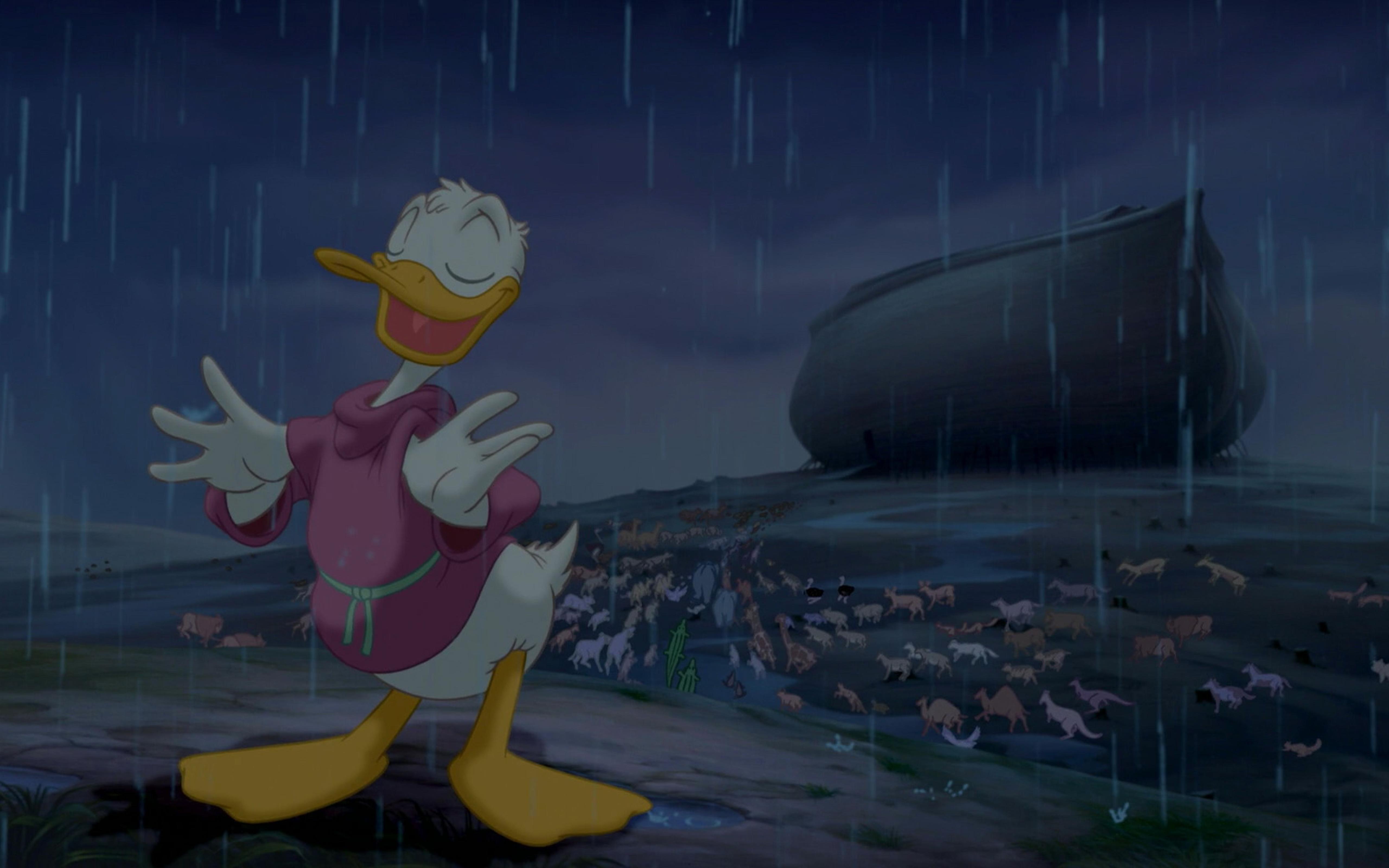 Best Wallpaper Night Cartoon - donald-duck-standing-in-the-rain-at-night-5120x3200  Image.jpg