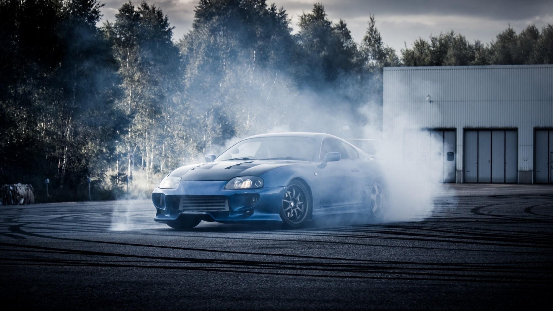 Drift With Gorgeous Blue Toyota Supra