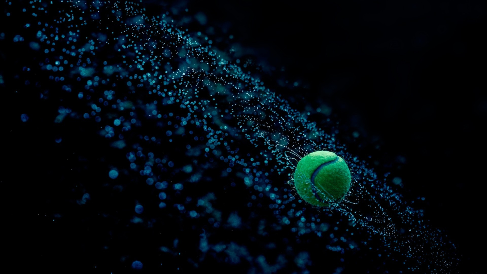 Fantasy Tennis Ball In Water Abstract Wallpaper