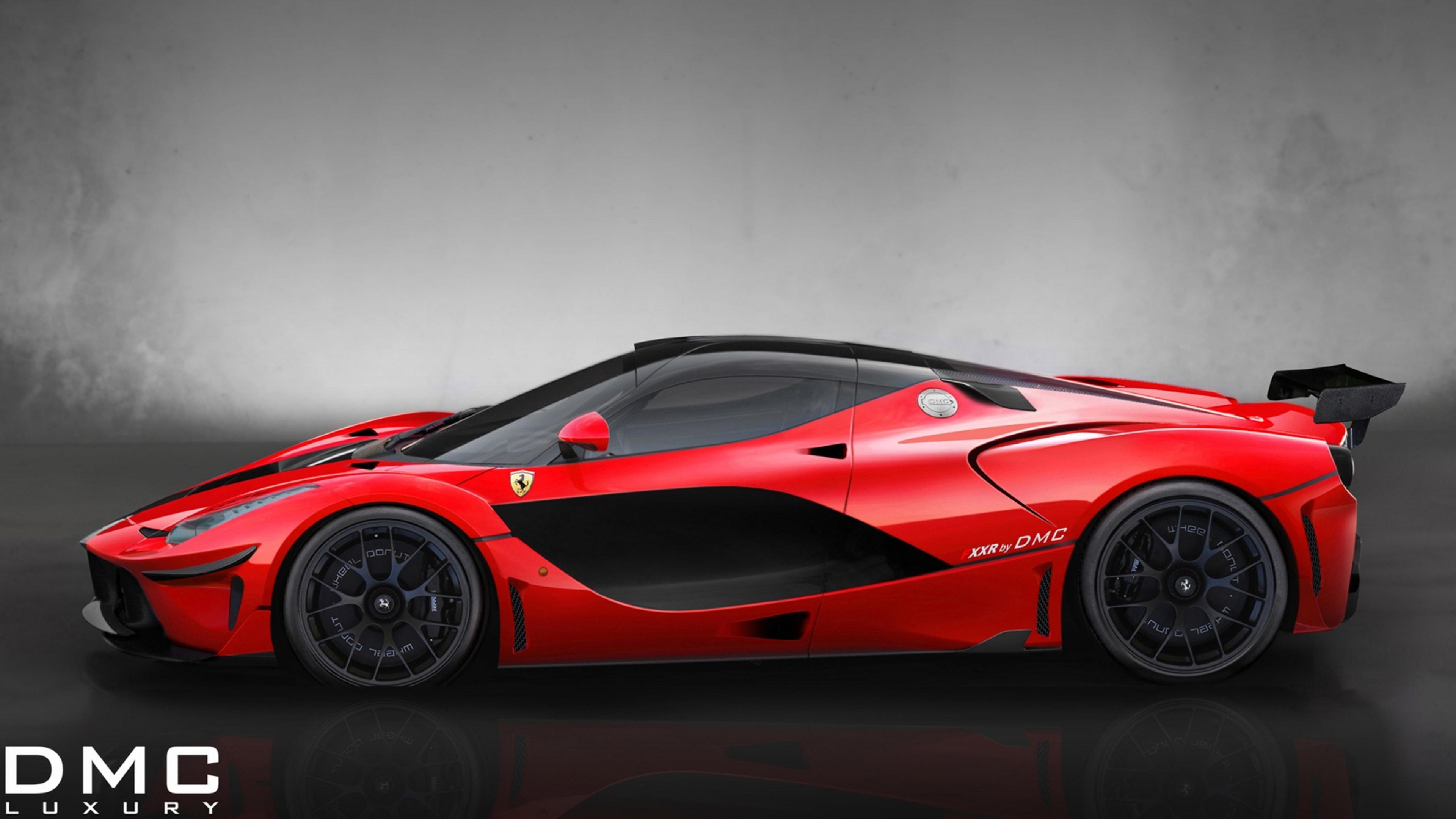 Ferrari Fxxr Side Red Sport Car Wallpaper Download 3840x2160