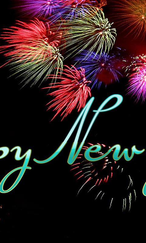 download wallpaper 480x800 fireworks on the dark sky happy new year 2018