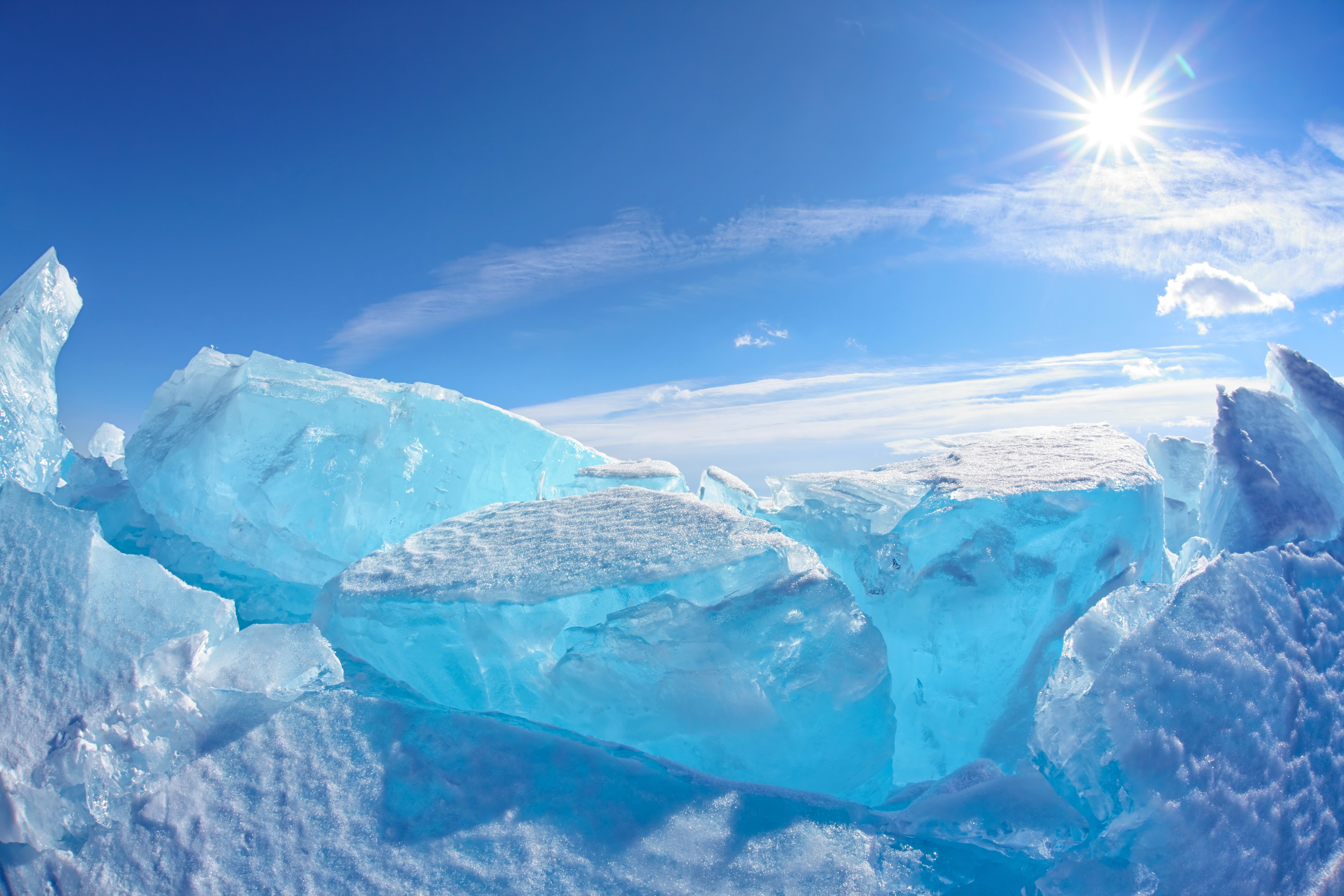 Frozen Lake Baikal Siberia Hd