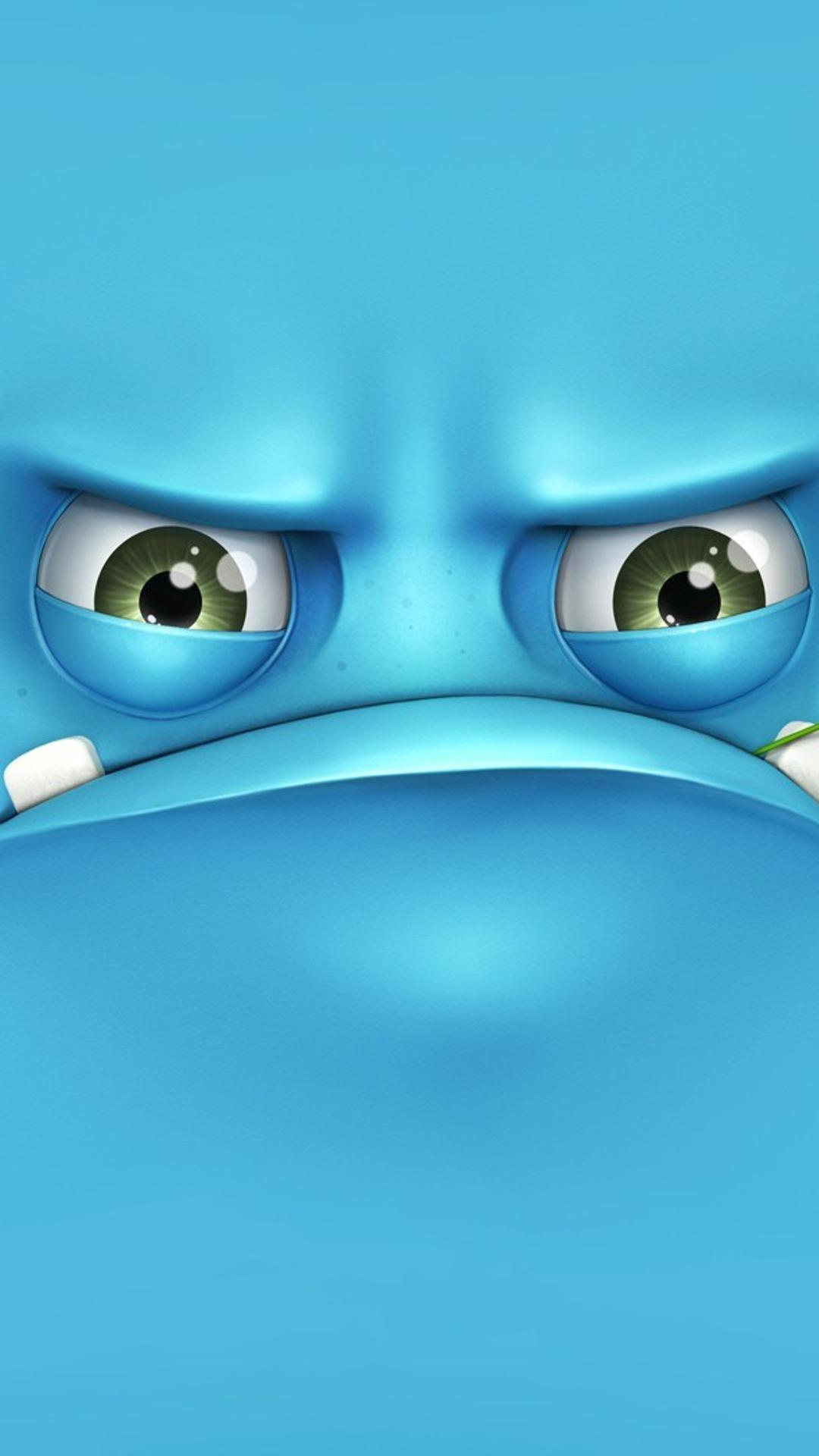 funny blue monster - 3d wallpaper wallpaper download 1080x1920