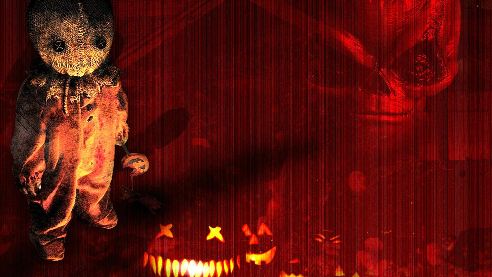Ghost And Pumpkins Halloween Night Wallpaper Download
