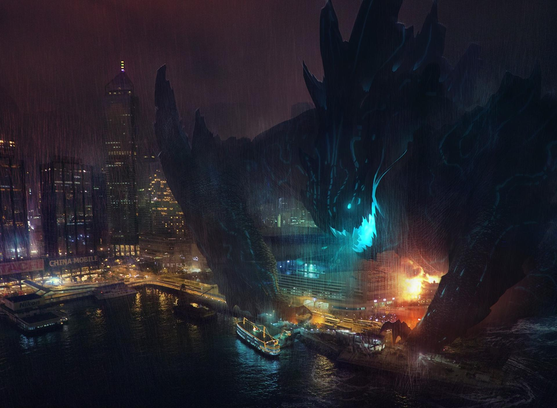 Giant Monster Destroying The Entire City Wallpaper
