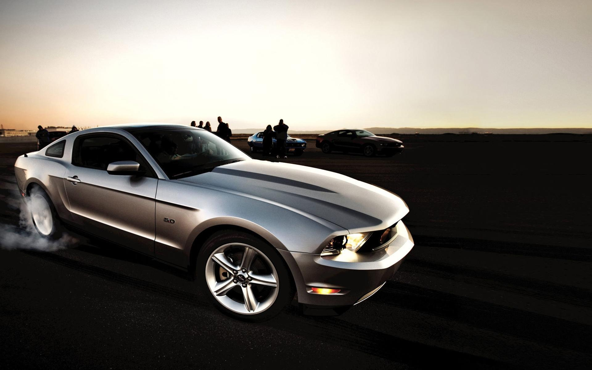 Golden Ford Mustang Gorgeous Car Wallpaper Download 1920x1200