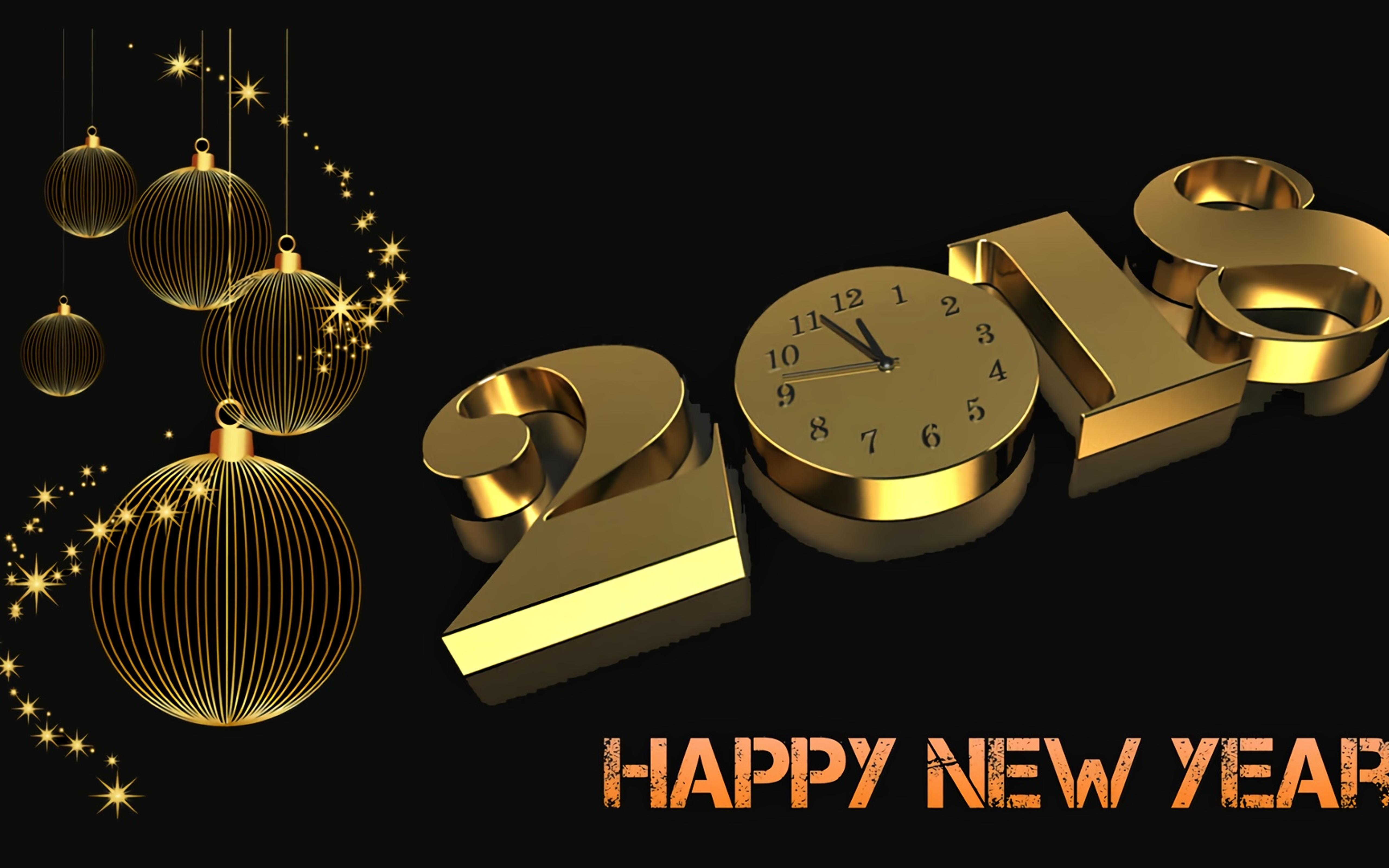 golden time and a happy new year 2018 hd wallpaper wallpaper download 5120x3200