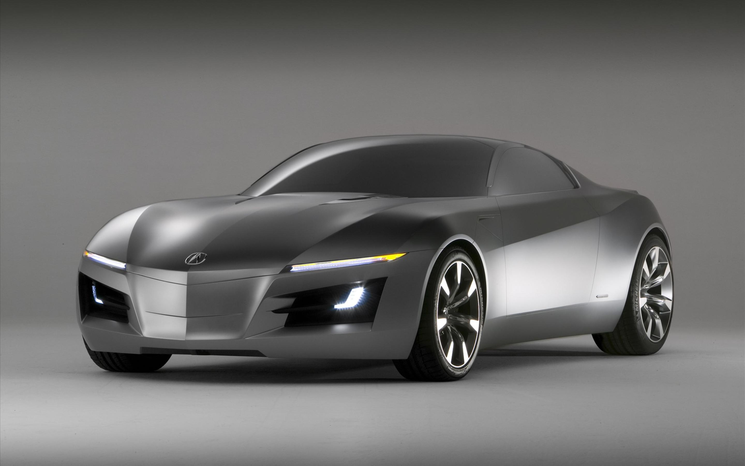 Gray Acura Sports Car Wallpaper Download 2880x1800