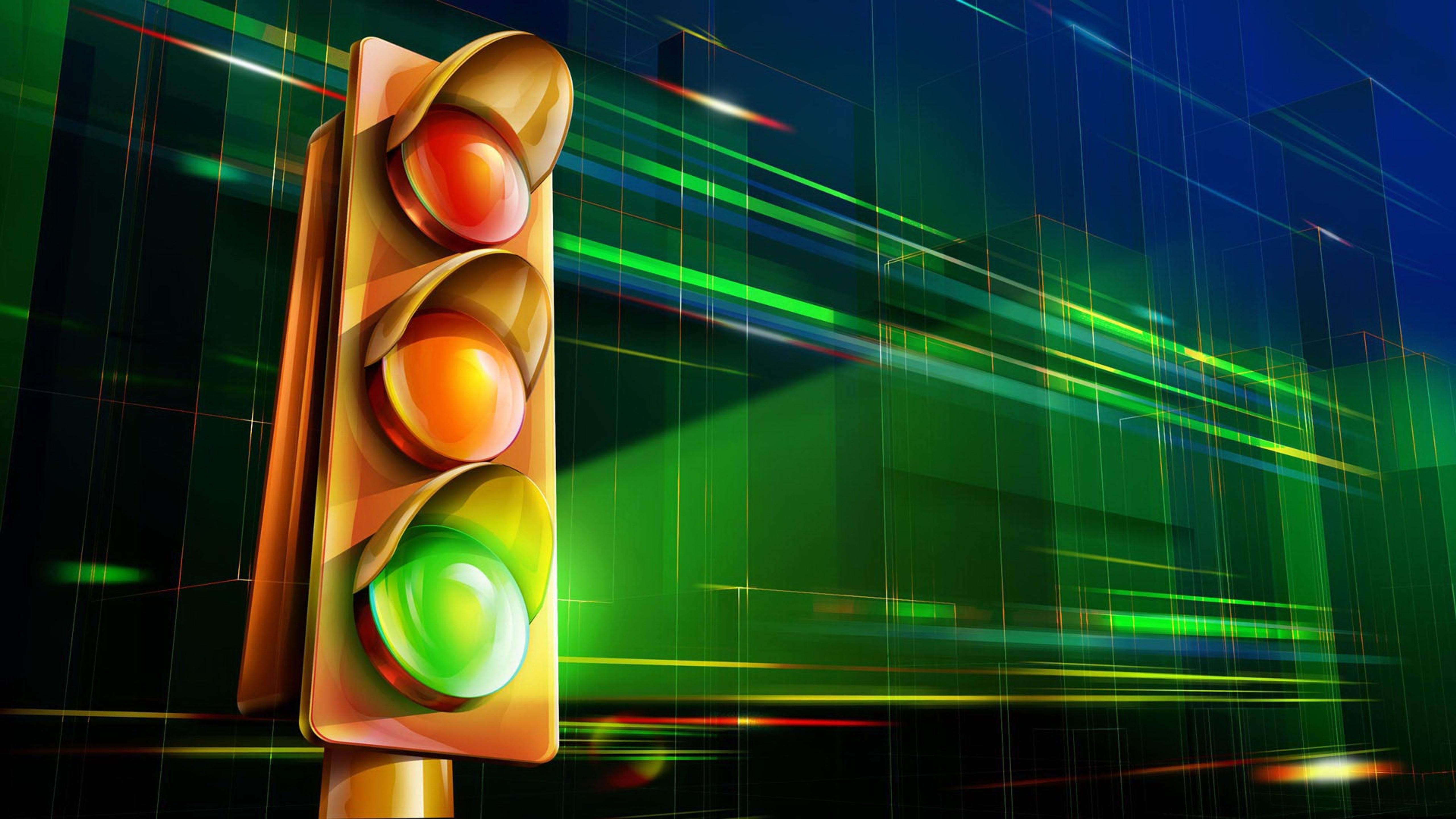 Зеленый свет - картинки на рабочий стол, картинка 1366x768 (.