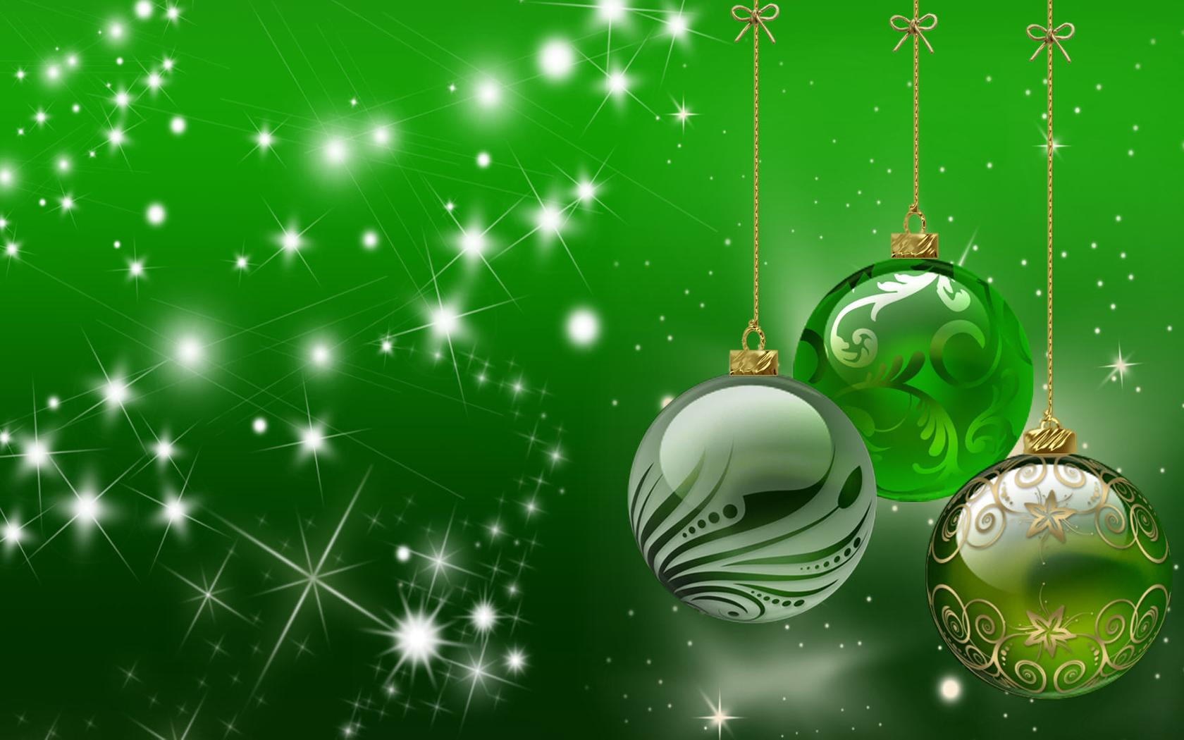 green holiday wallpaper - christmas accessories wallpaper download