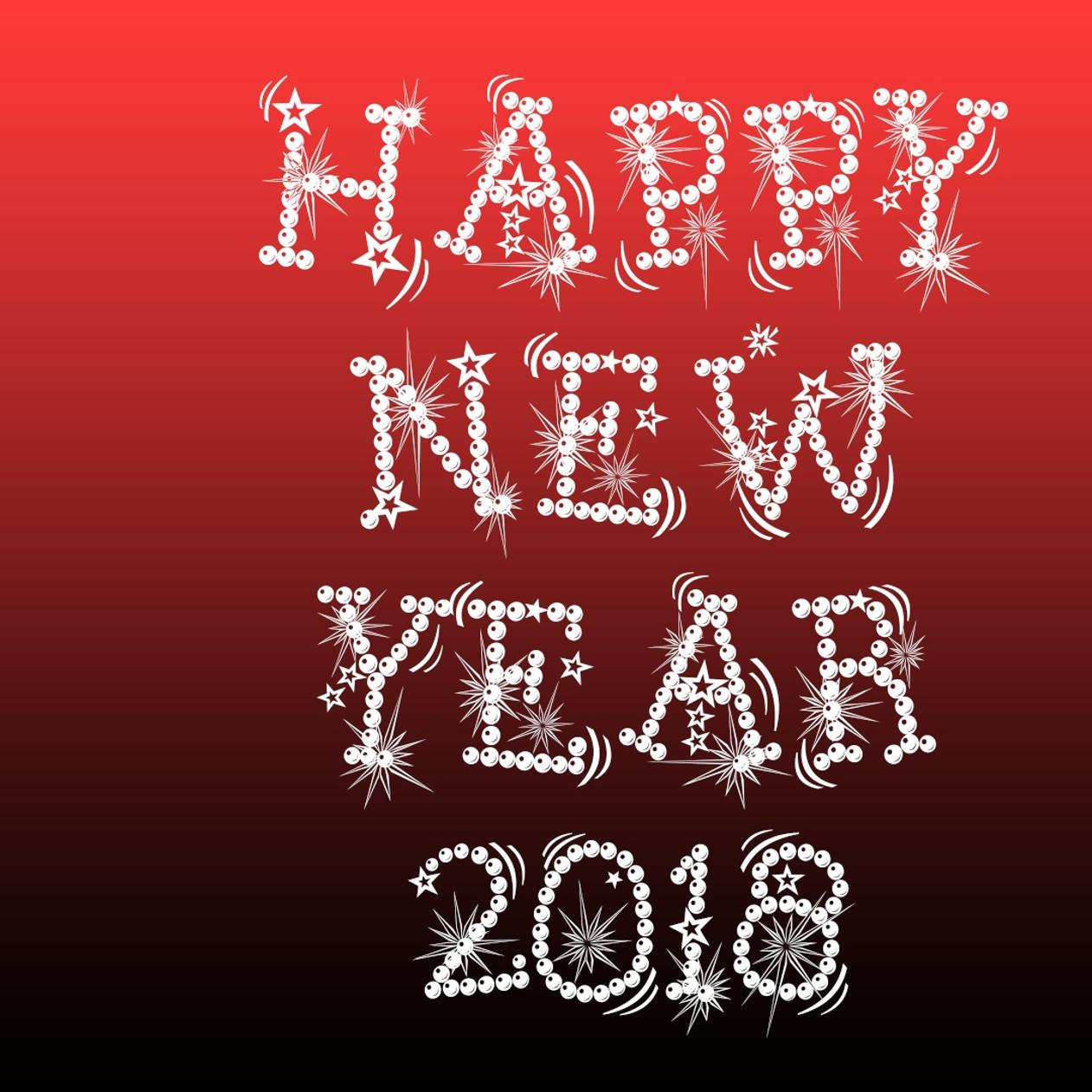 happy new year 2018 red and dark background wallpaper download 1262x1262