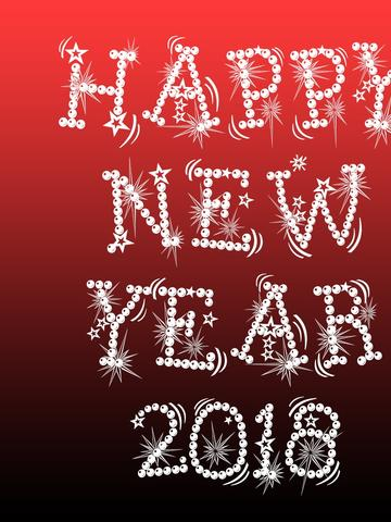 download wallpaper 360x480 happy new year 2018 red and dark background