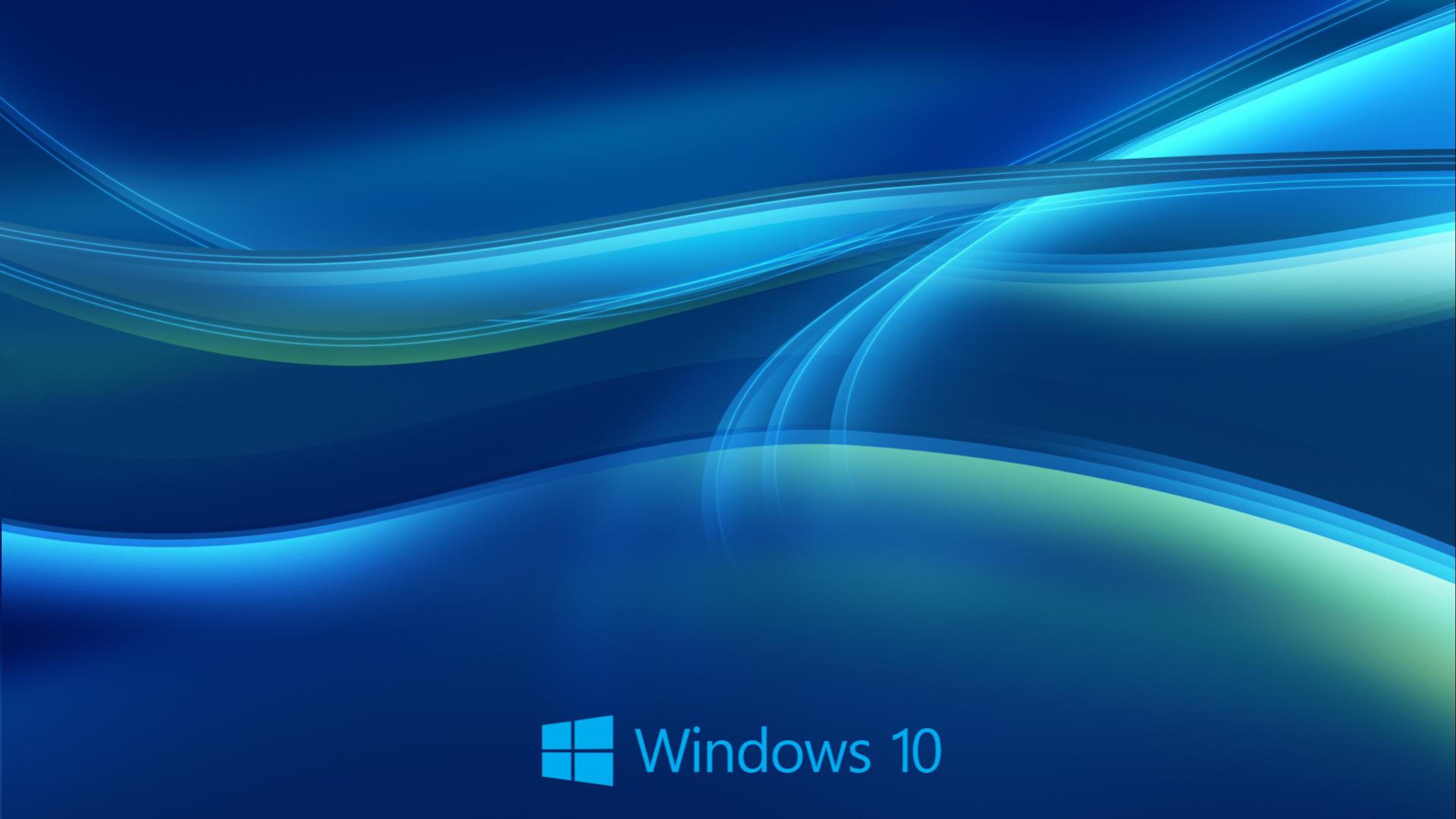 Download wallpaper 3840x2160 hd blue lines beautiful windows 10