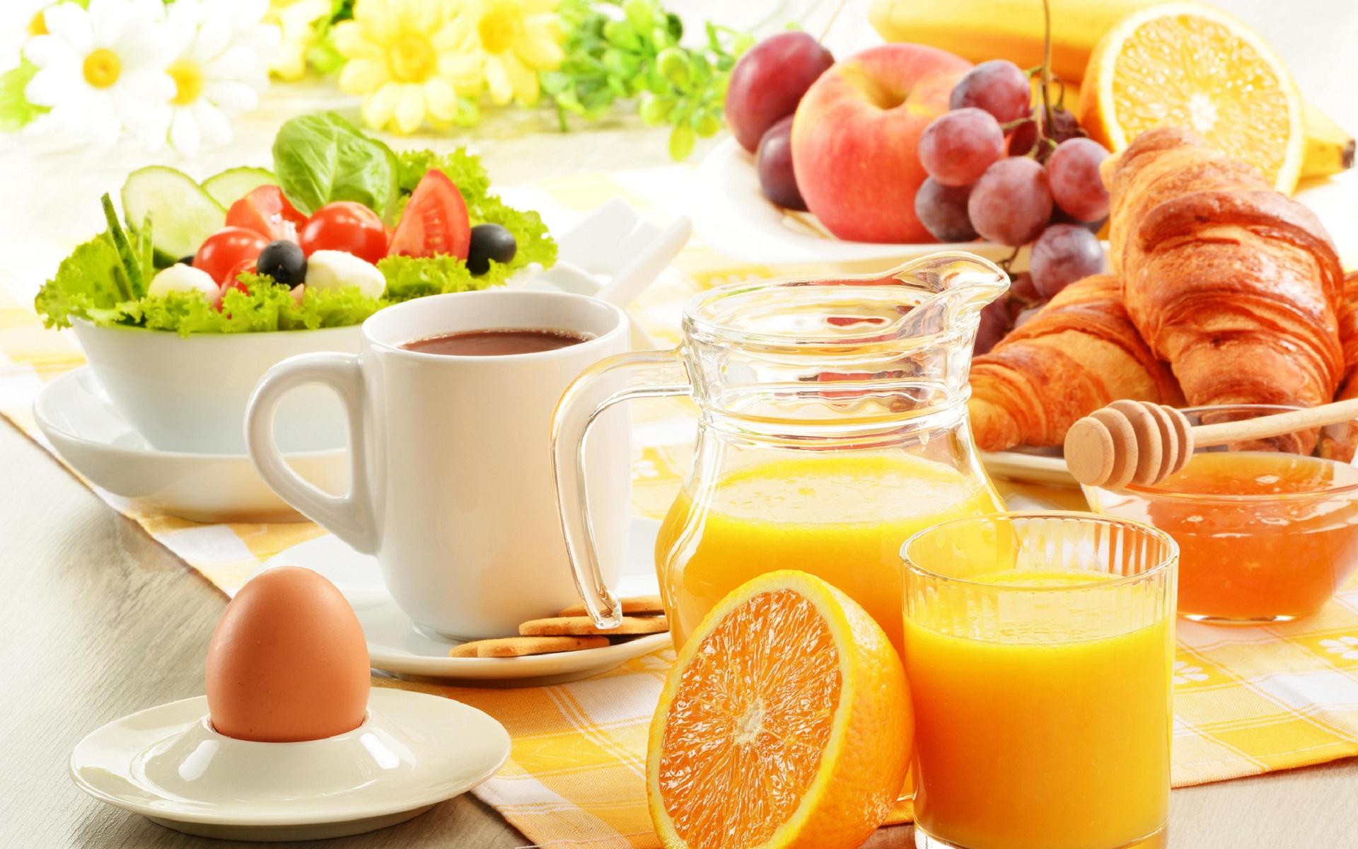 Healthy Breakfast In A Hot Summer Day