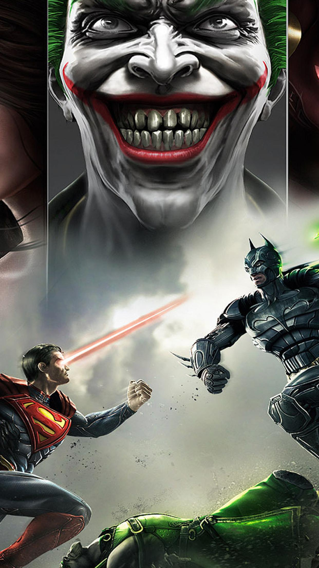 injustice: gods among us ps3 game hd wallpaper download 1242x2208
