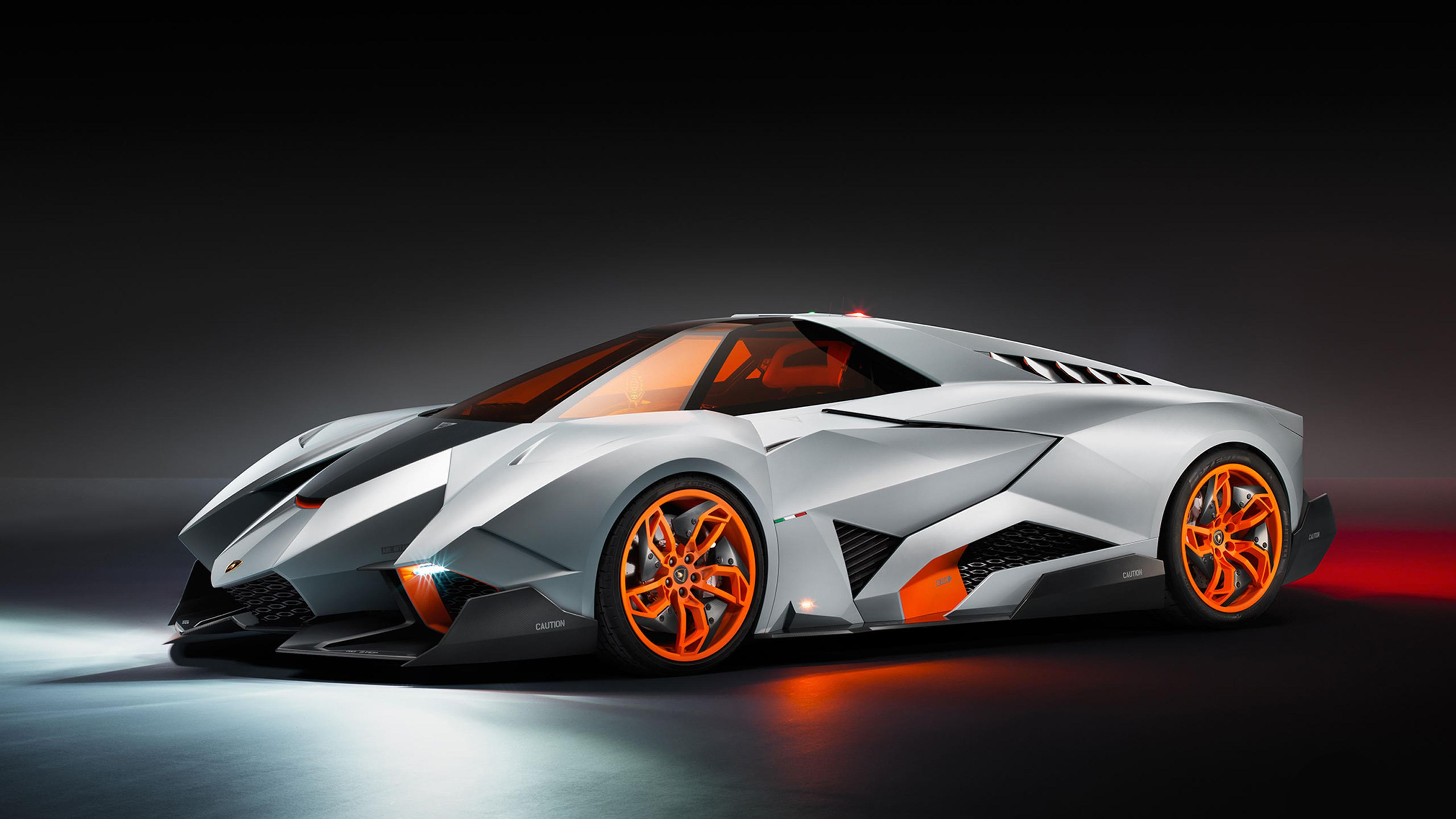 Bon Lamborghini Egoista   Gray And Orange Sport Car Wallpaper Download 3840x2160