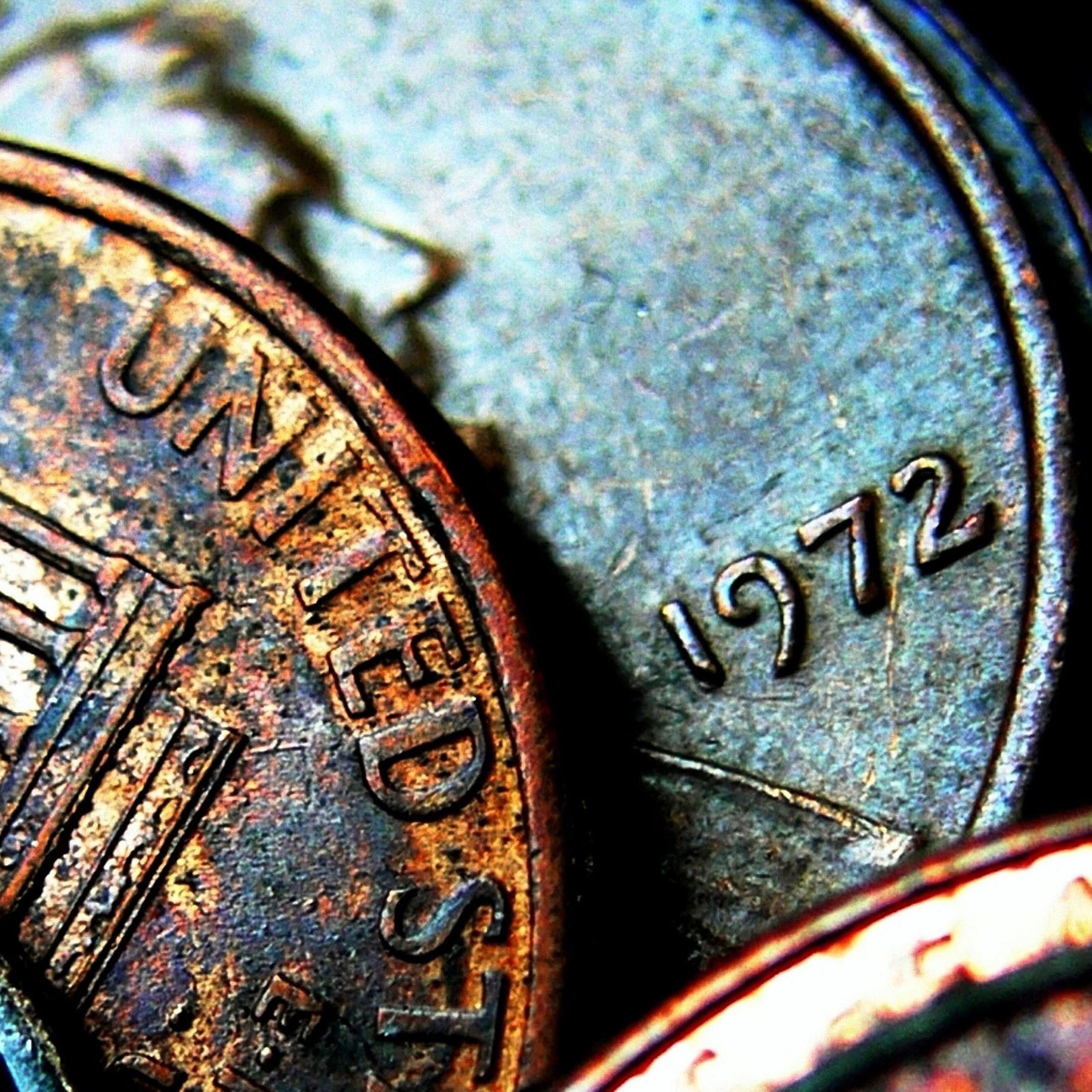 Macro Old Coins From United States Of America Wallpaper Download 2524x2524