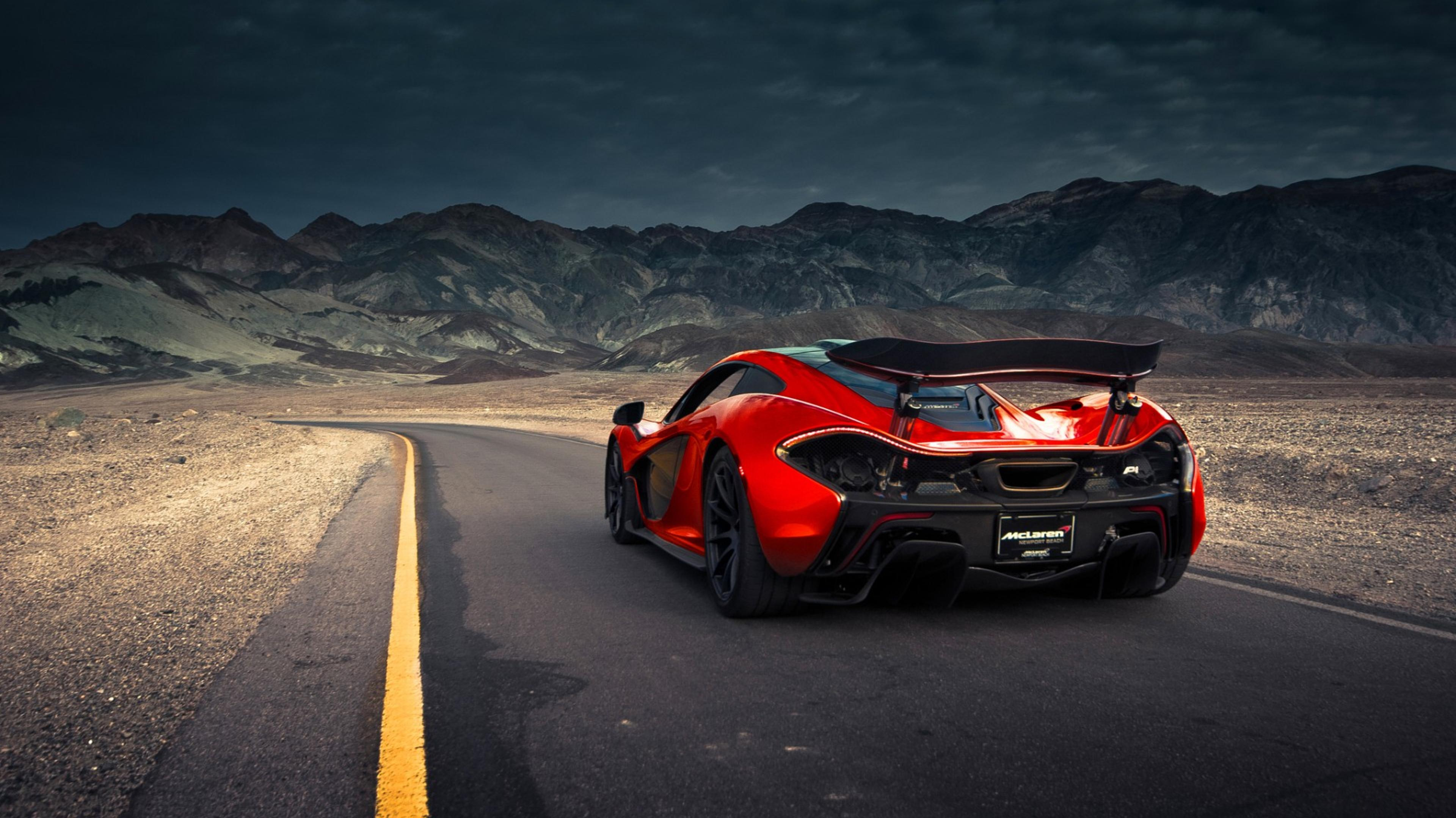 Mclaren P1 Going Through The Mountains Wallpaper Download 3840x2160