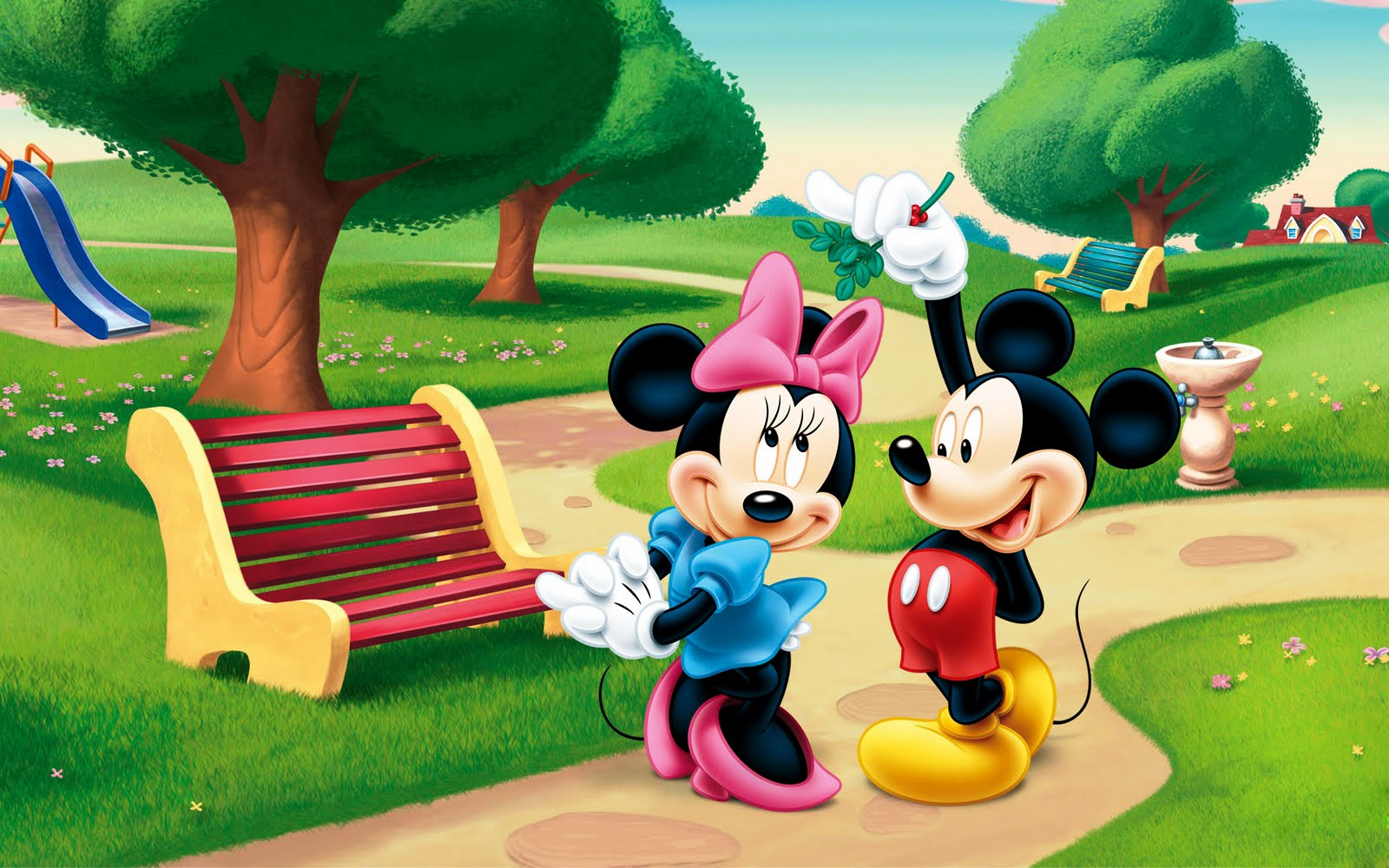 BMW Winter Park >> Mickey Mouse and Minnie Mouse in the park