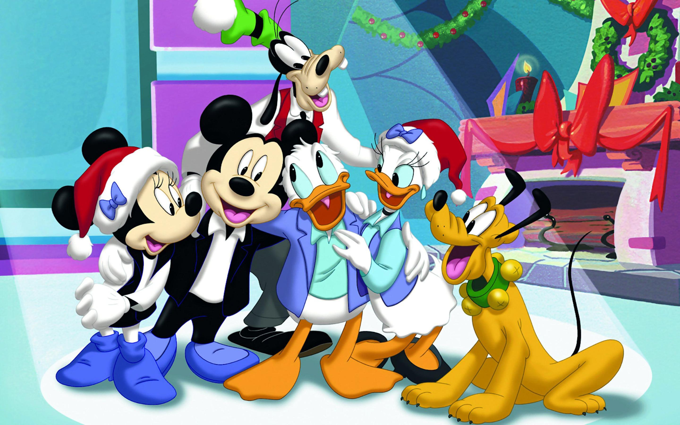 Mickey Mouse Clubhouse Christmas time Wallpaper Download x