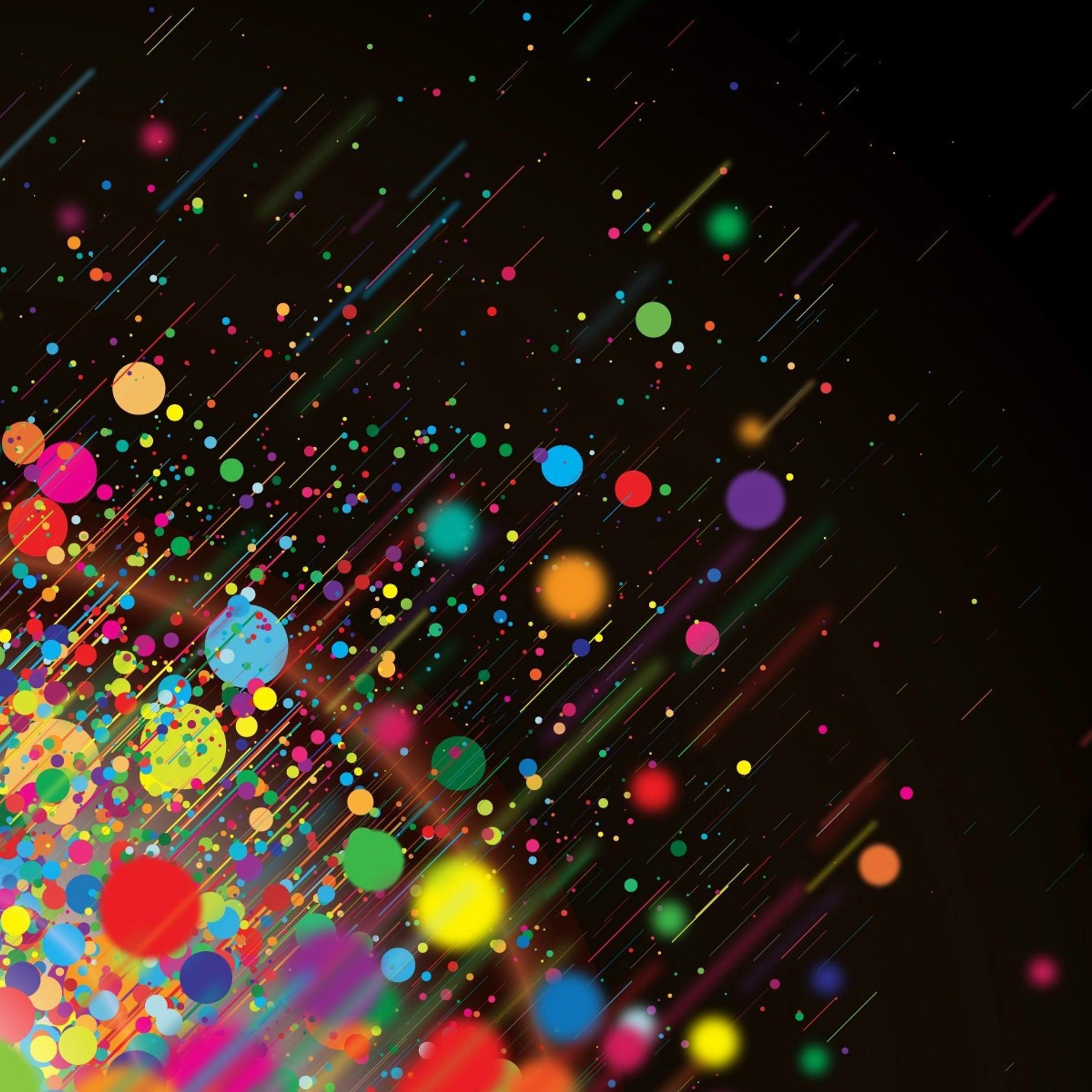 Download Wallpaper 2524x2524 Multi Color Splash