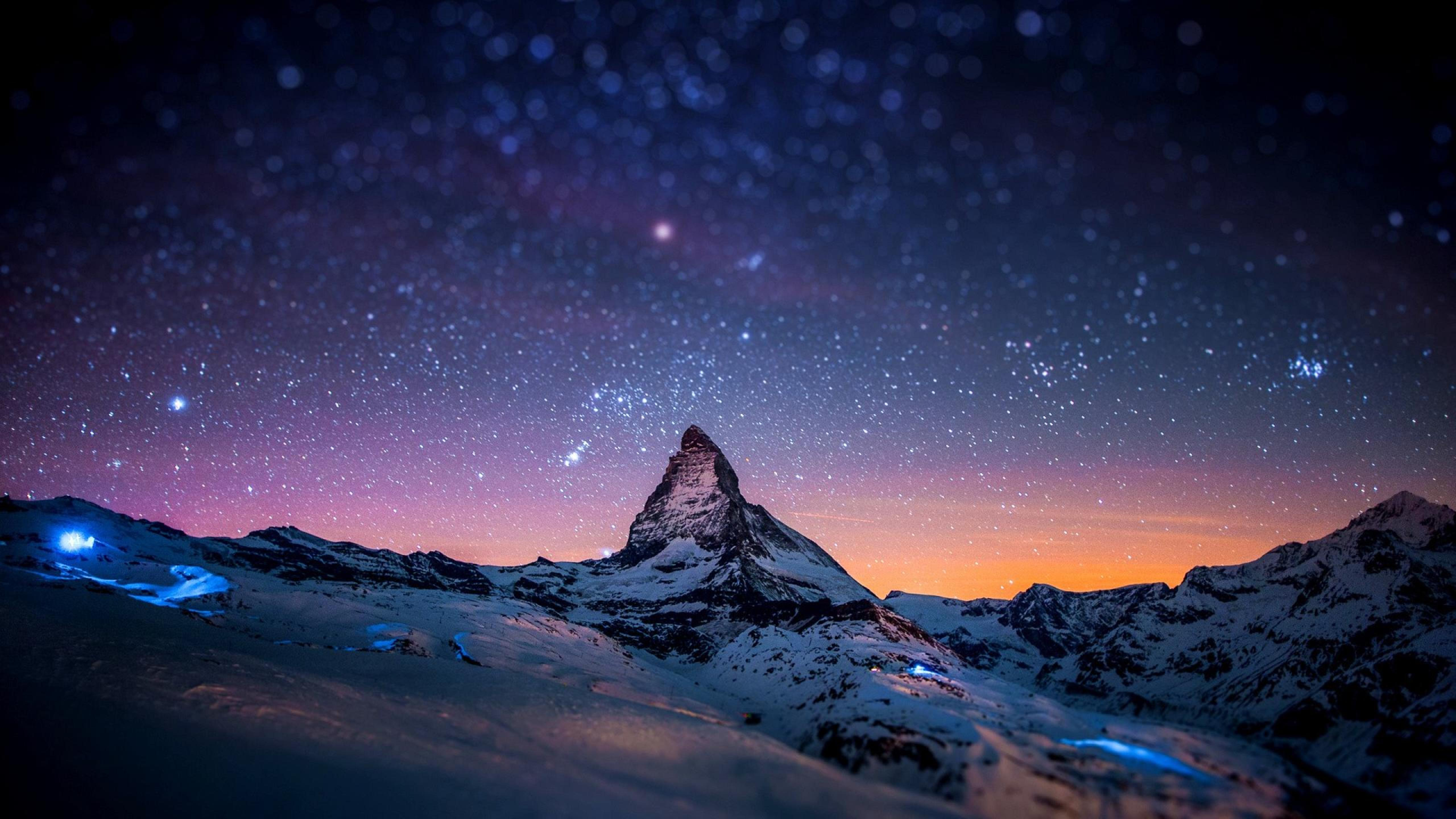 night view of sky full of stars wallpaper download 5120x2880