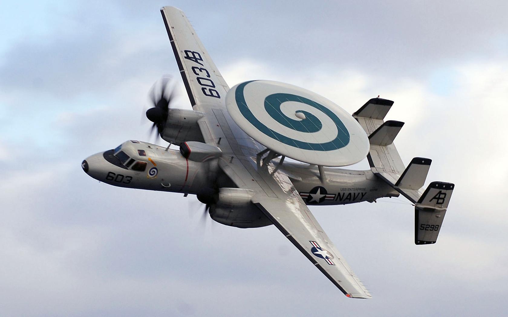 Download Wallpaper 1680x1050 Northrop Grumman E-2 Hawkeye Airplane