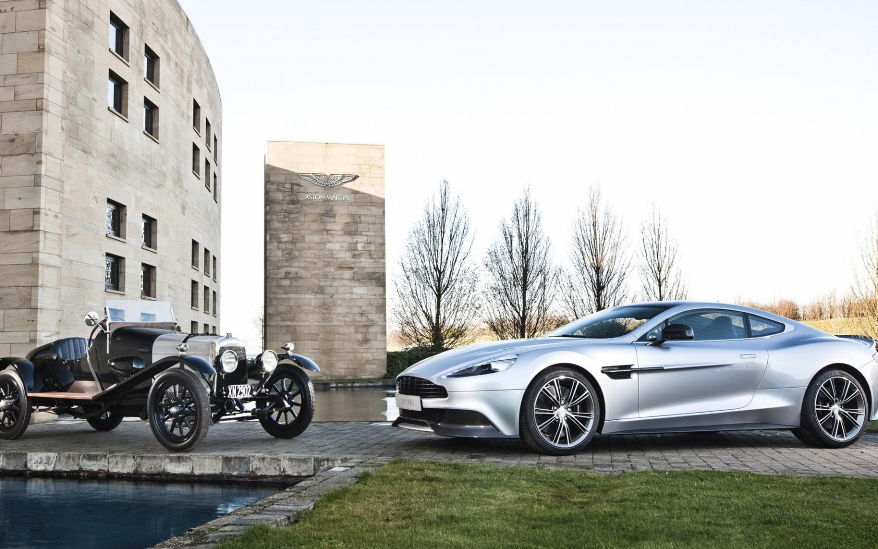 Old And New Aston Martin Vanquish Wallpaper Download 2880x1800