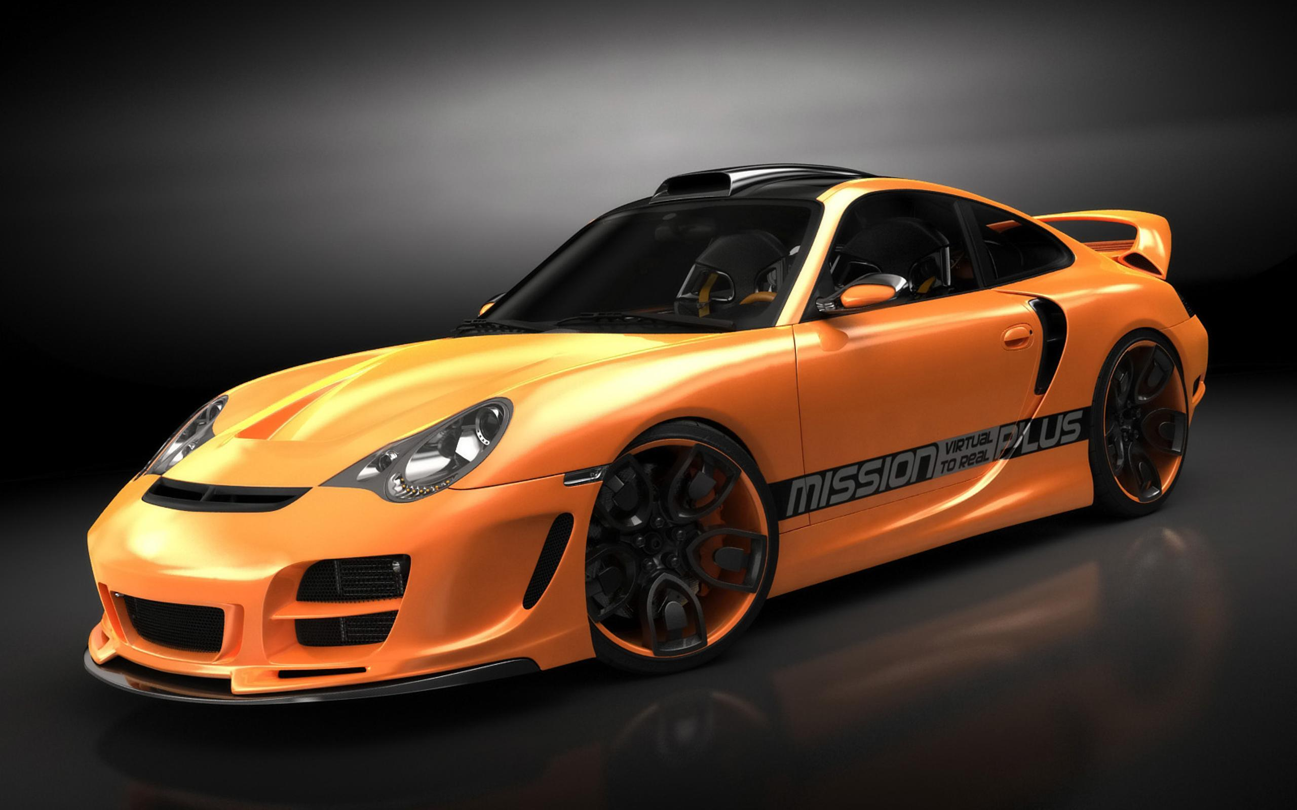 Orange Porsche 911 Sport Car Wallpaper Wallpaper Download 2560x1600