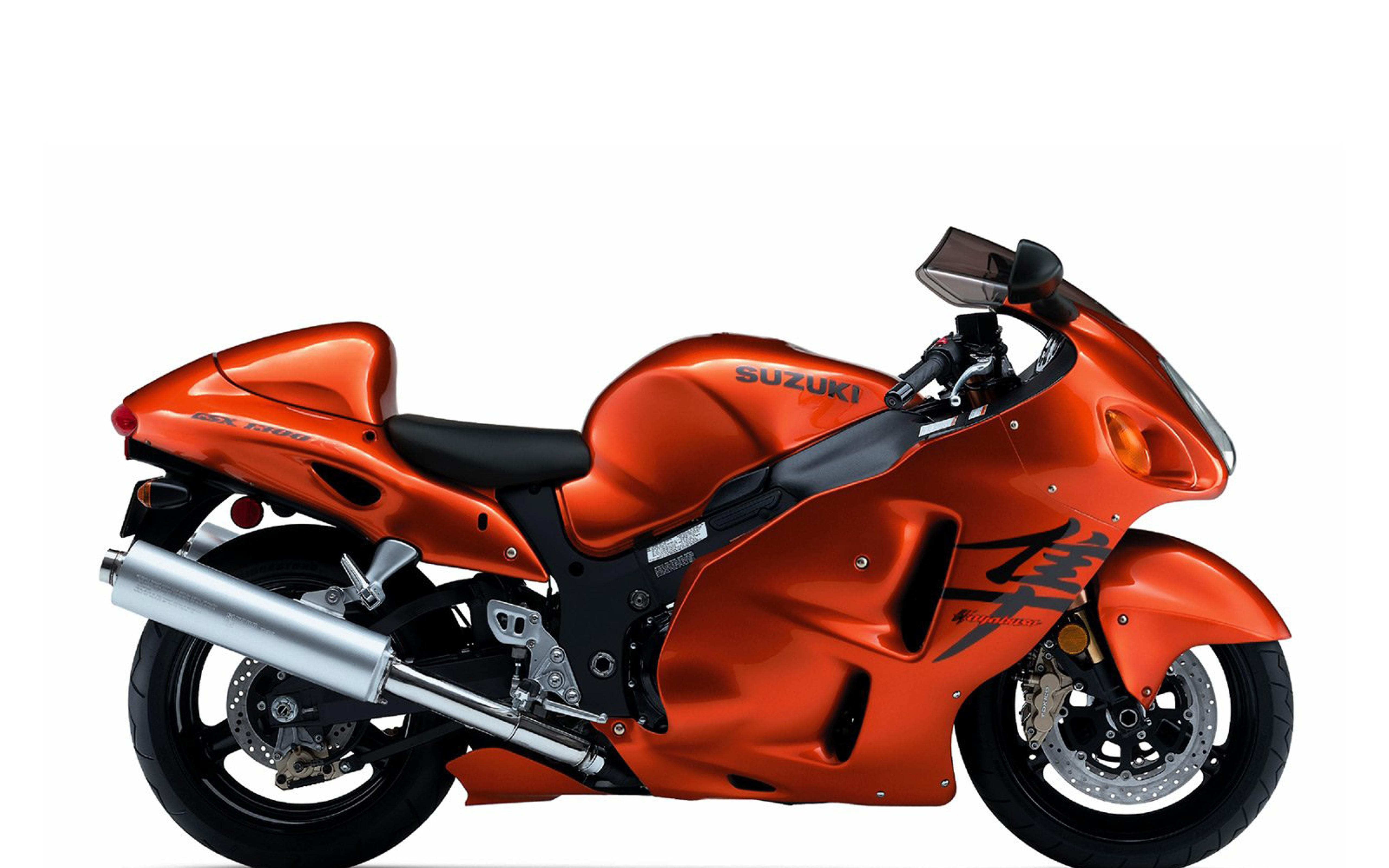 Orange Suzuki GSX 1300 R Hayabusa Motorcycle Wallpaper Download 5120x3200