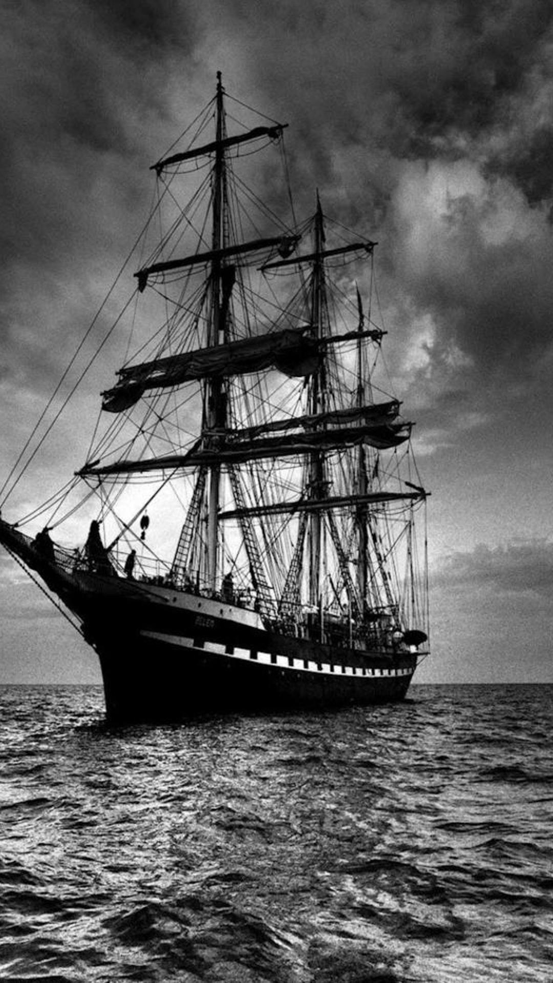 pirate sailing ship wallpaper download 1080x1920