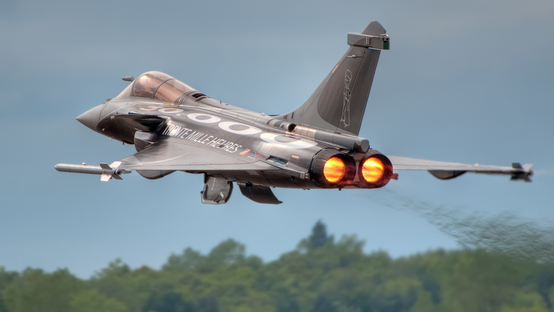 Rafale Fighter Aircraft Take Off