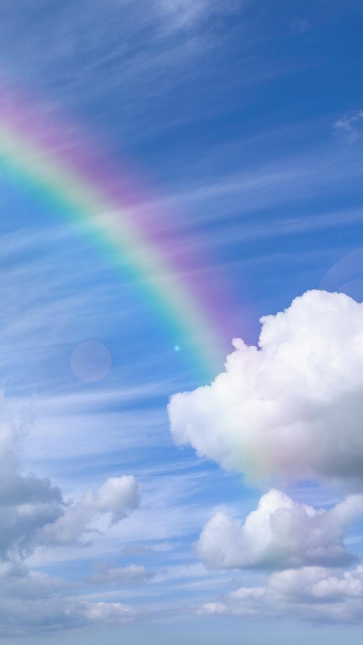 blue cloud with rainbow wallpaper - photo #15