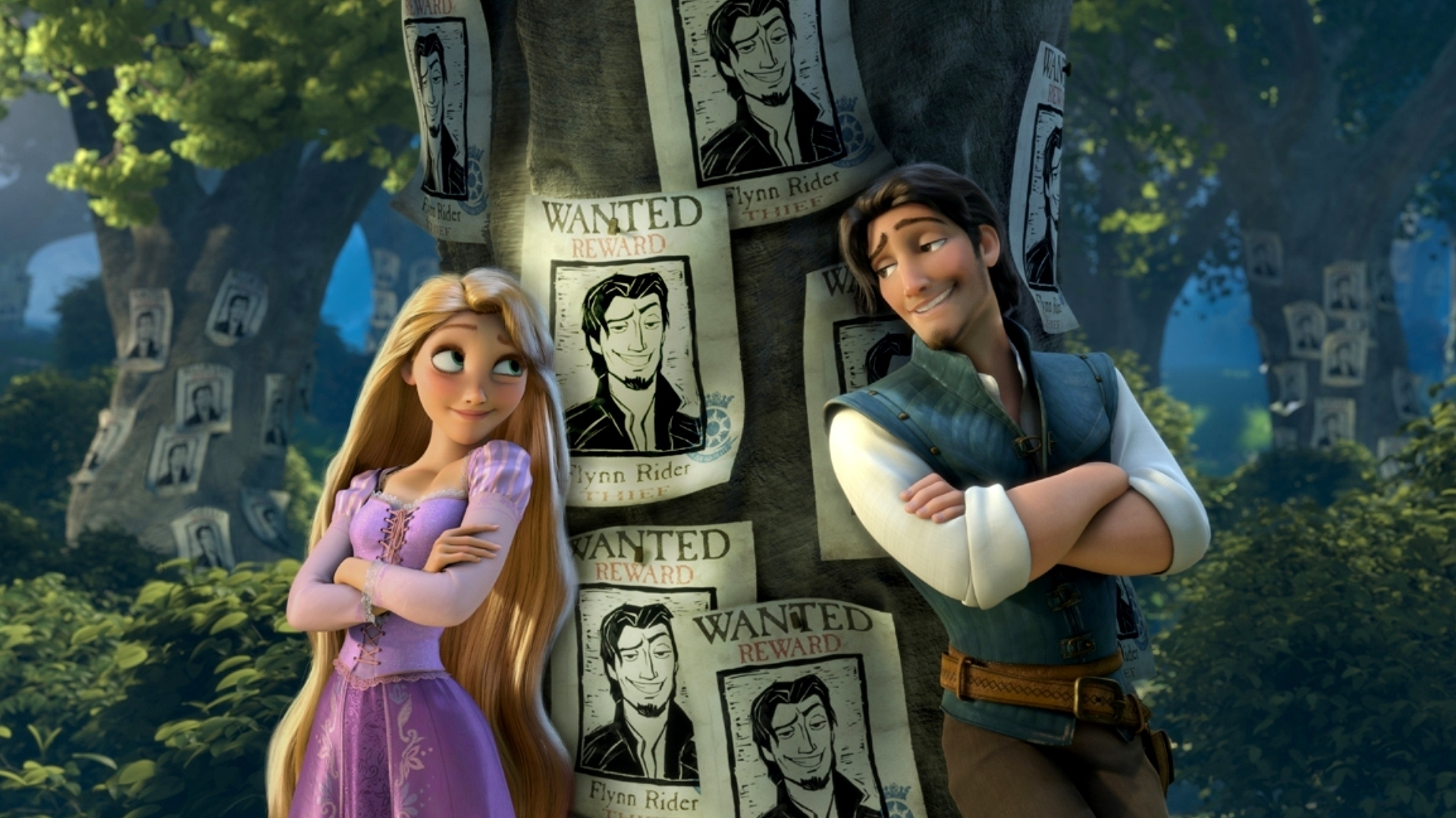 Rapunzel And Flynn Rider In The Tangled Animation
