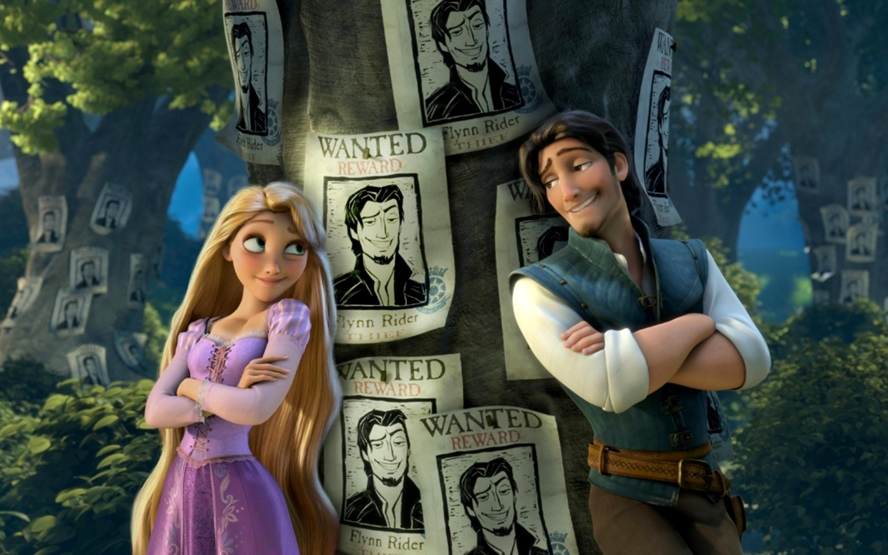 Rapunzel and Flynn Rider in the Tangled animation Wallpaper Download ... for Tangled Wallpaper Rapunzel And Flynn  45jwn
