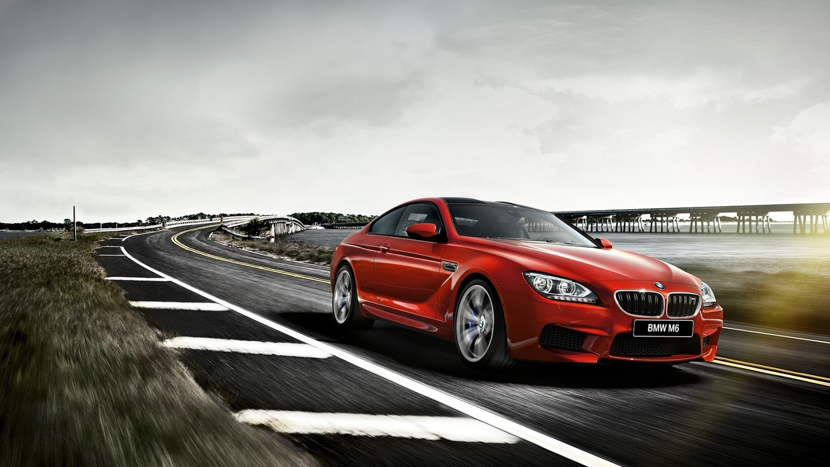 Red Bmw M6 F13 Coupe On Road Gorgeous Car