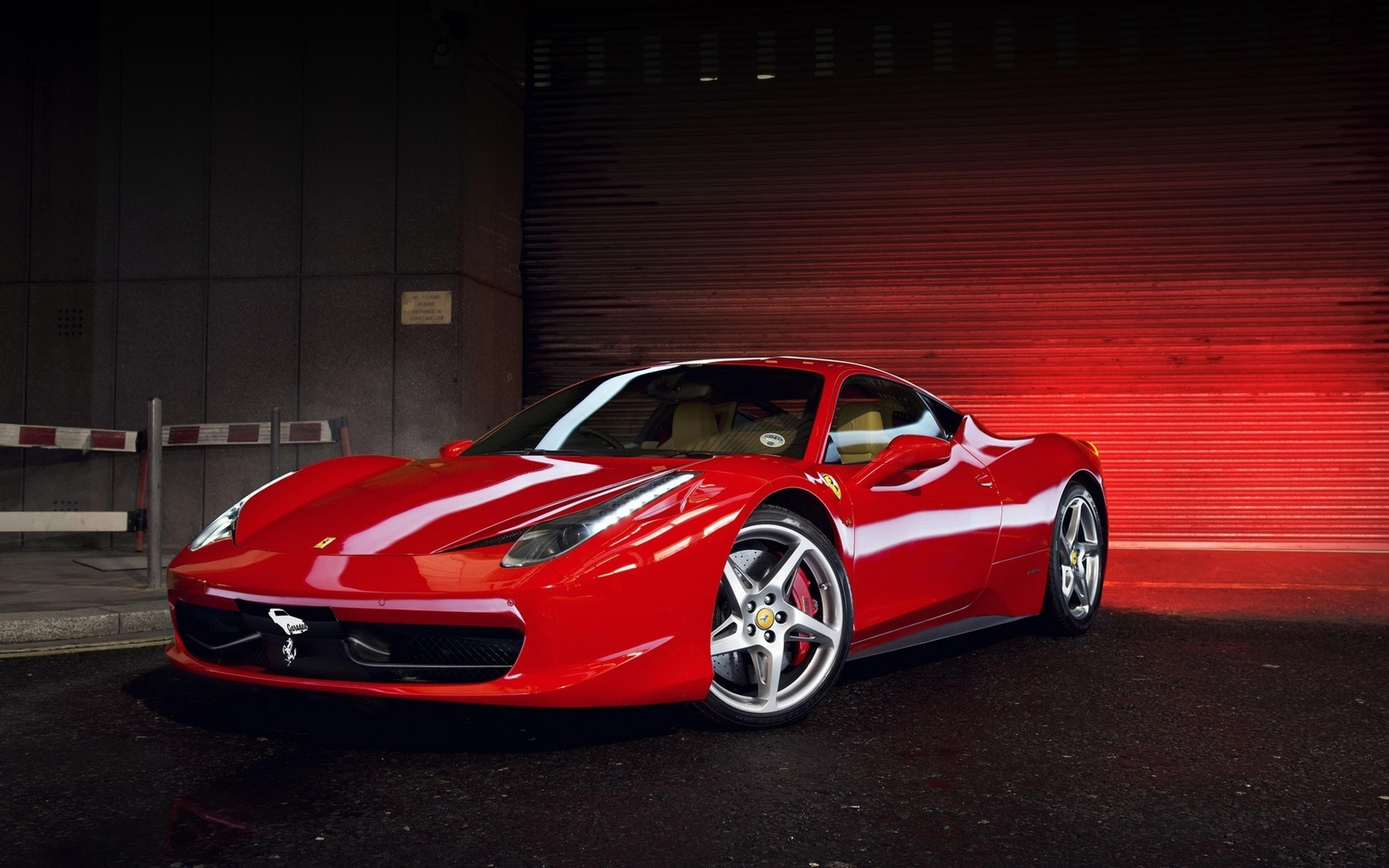 Garage Sports Car : Red ferrari in garage sport car wallpaper download
