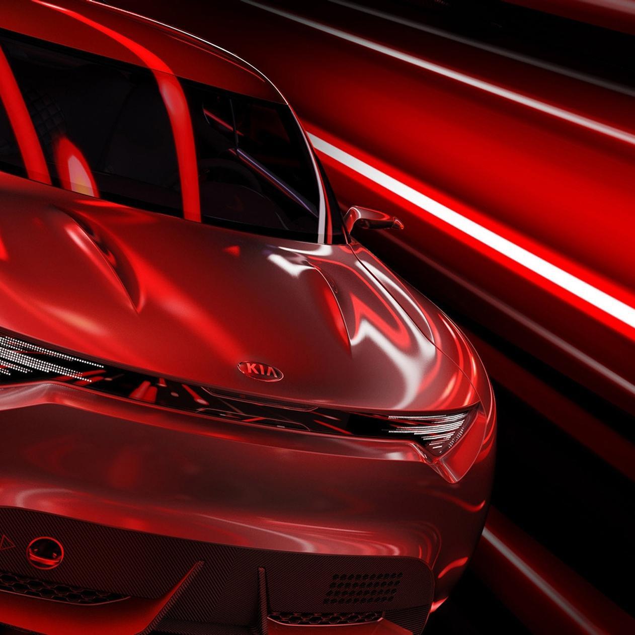 Red Kia Sport Car Concept