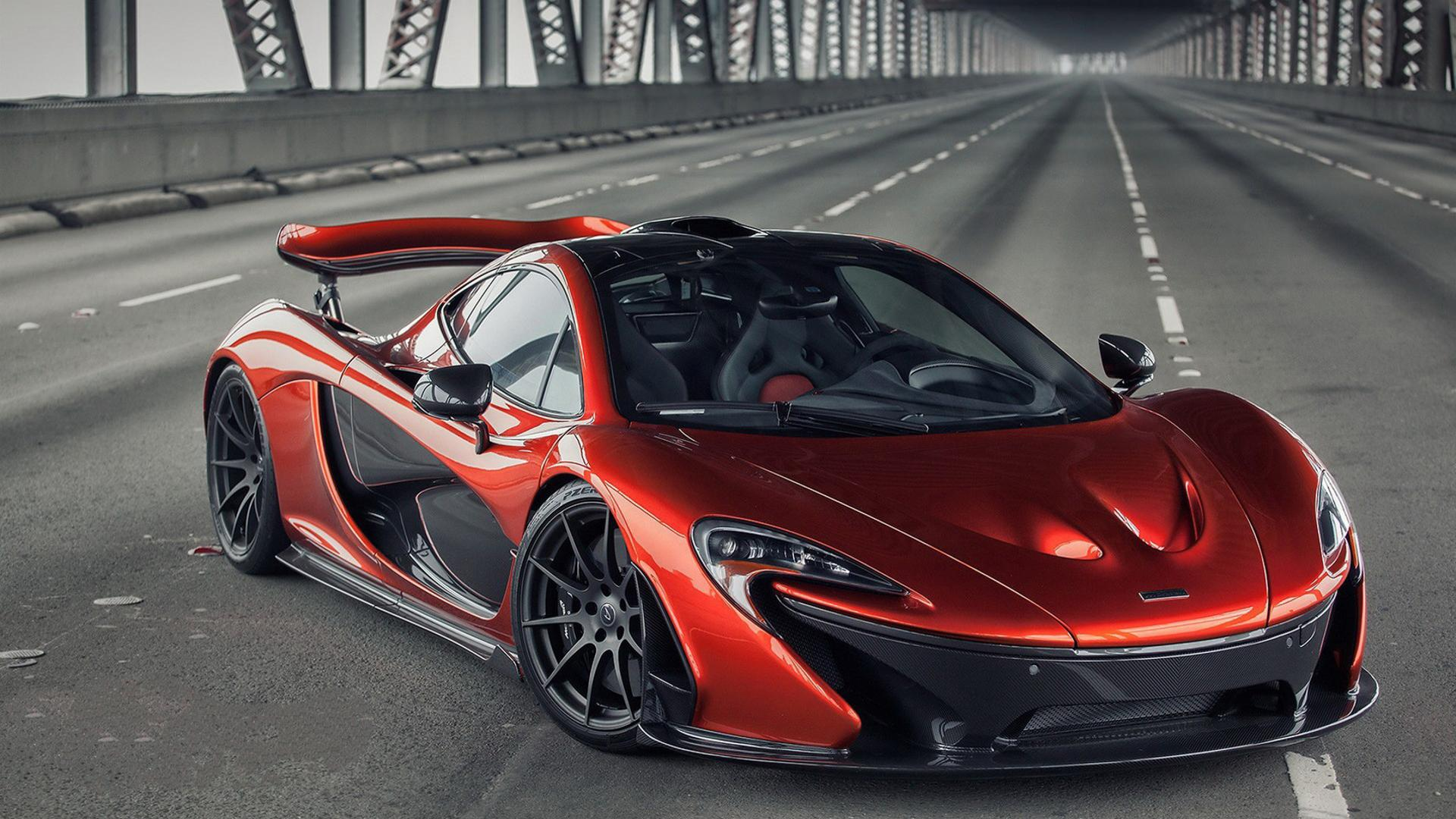 Red McLaren P1 on a bridge - Sport car Wallpaper Download ...