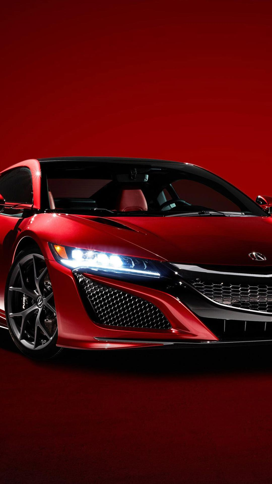 Red Supercar Acura NSX 2016 Wallpaper Download 1080x1920