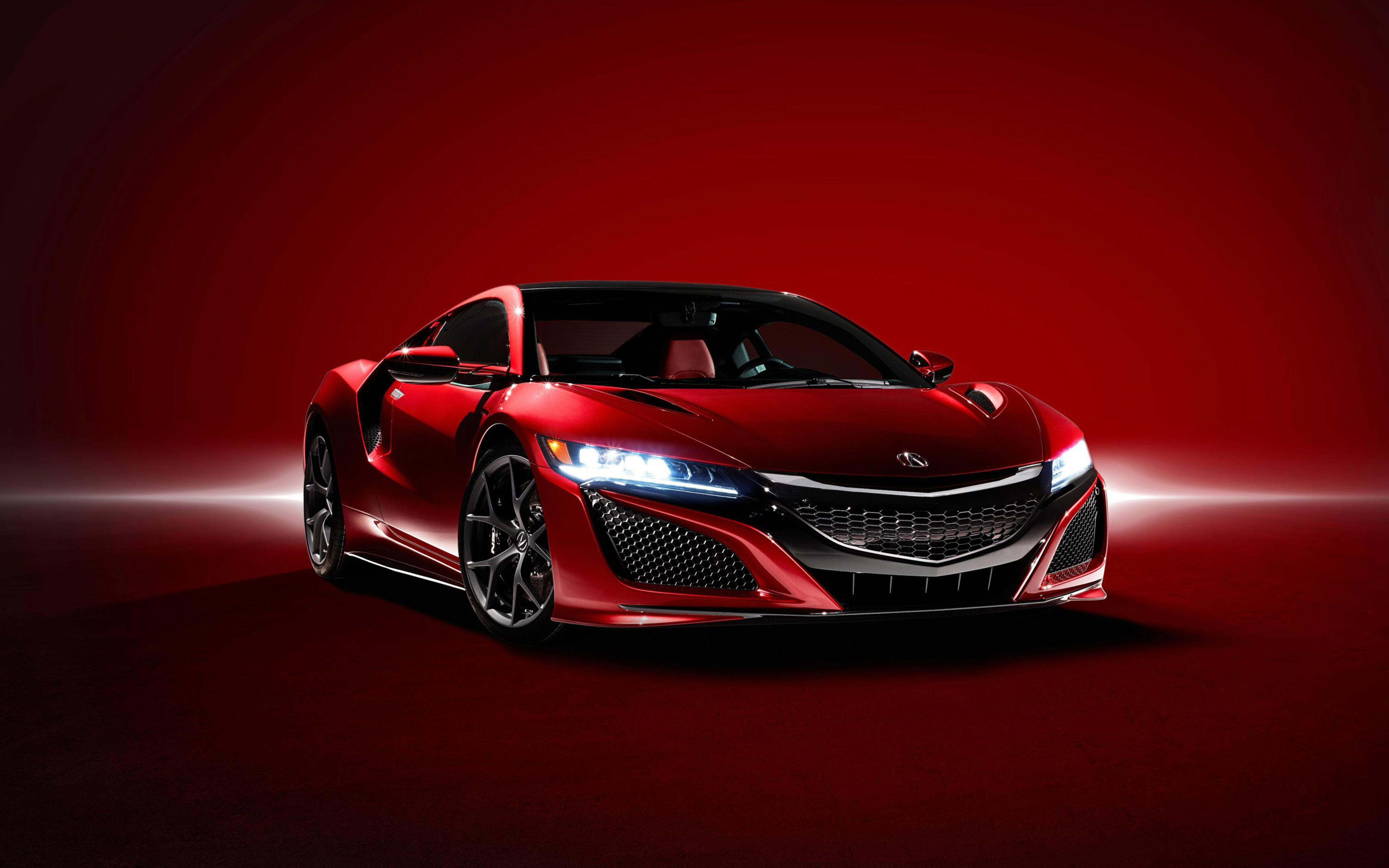 Red Supercar Acura NSX 2016 Wallpaper Download 5120x3200