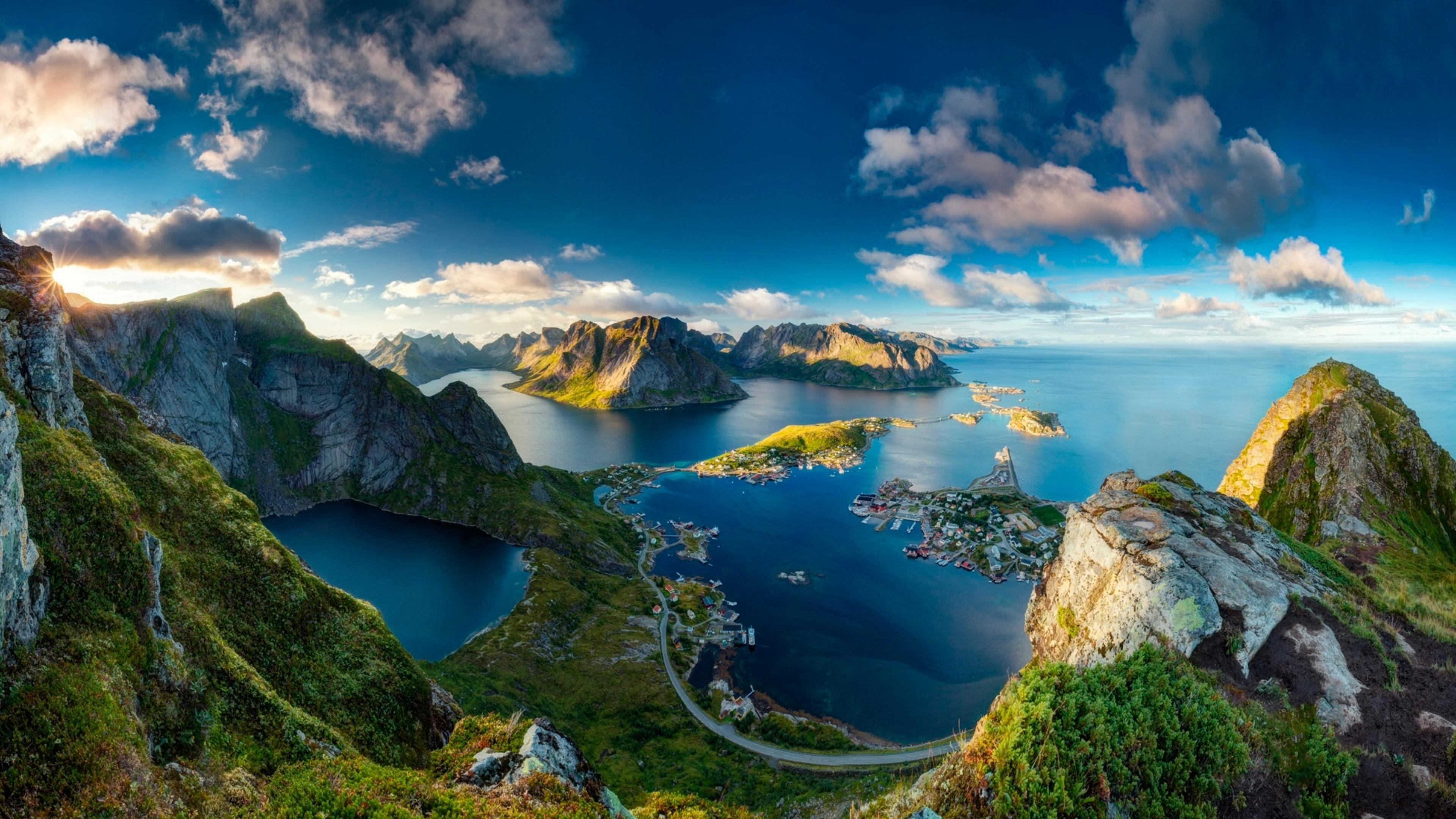 Reinebringen Norway Stunning Landscape Wallpaper