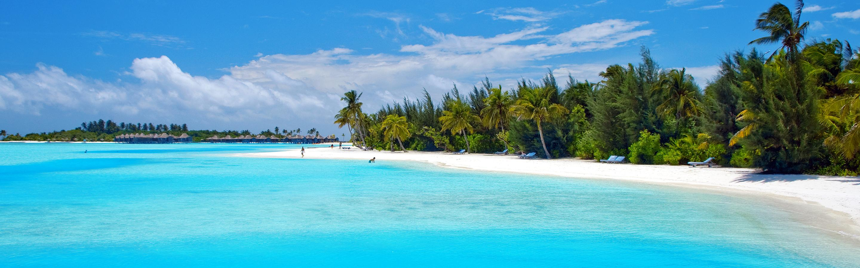 Riu Palace Tropical Bay Beach Wallpaper Download 2880x900