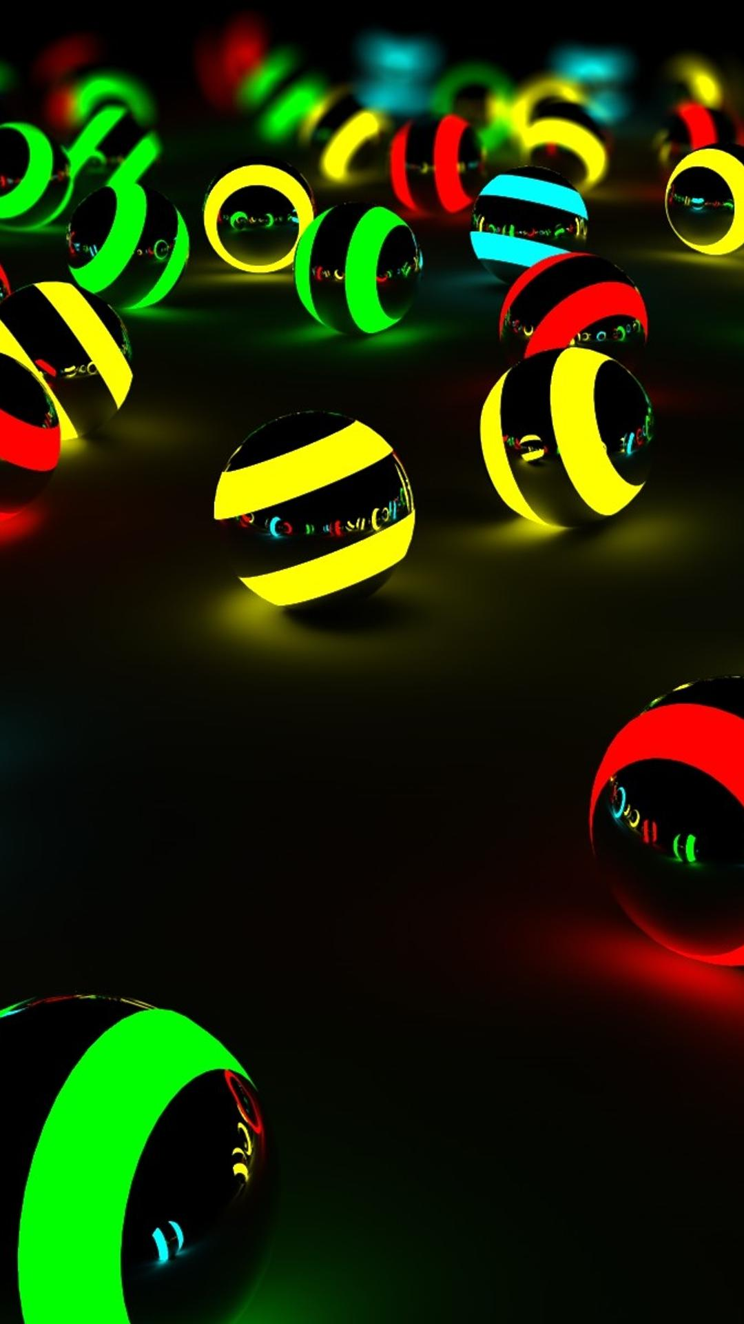 Download Wallpaper 1080x1920 Spheres In Many Color